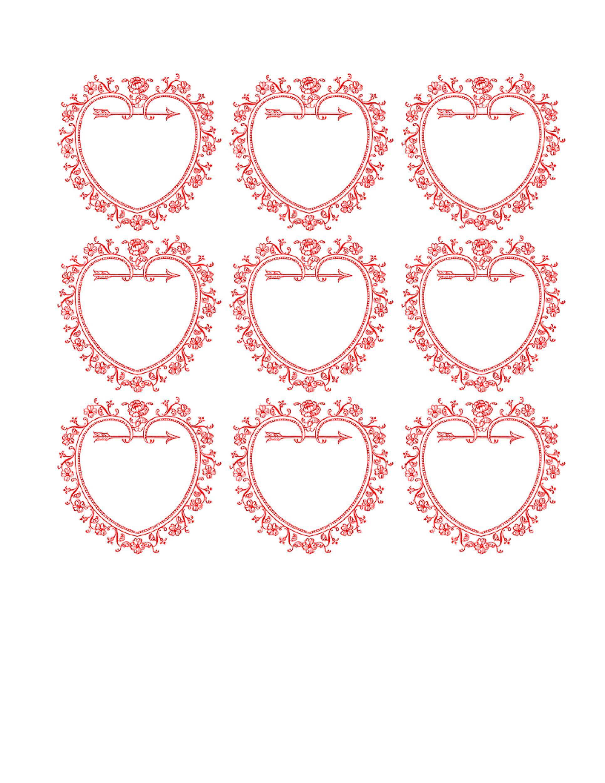 Heart shape Template 19