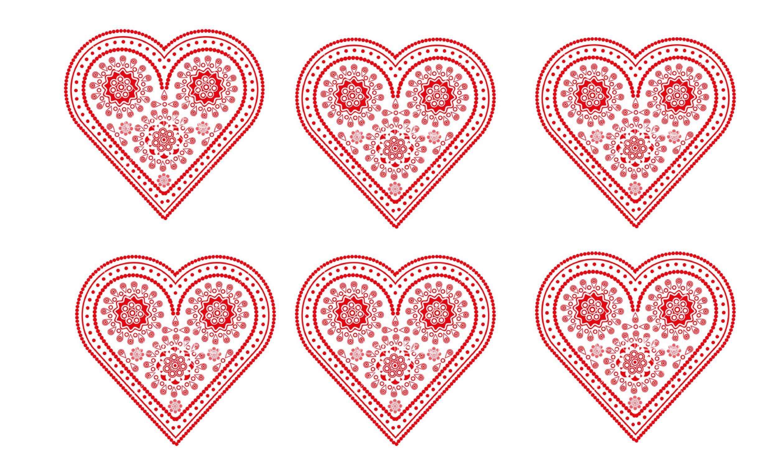 Free Heart Shape Template 20