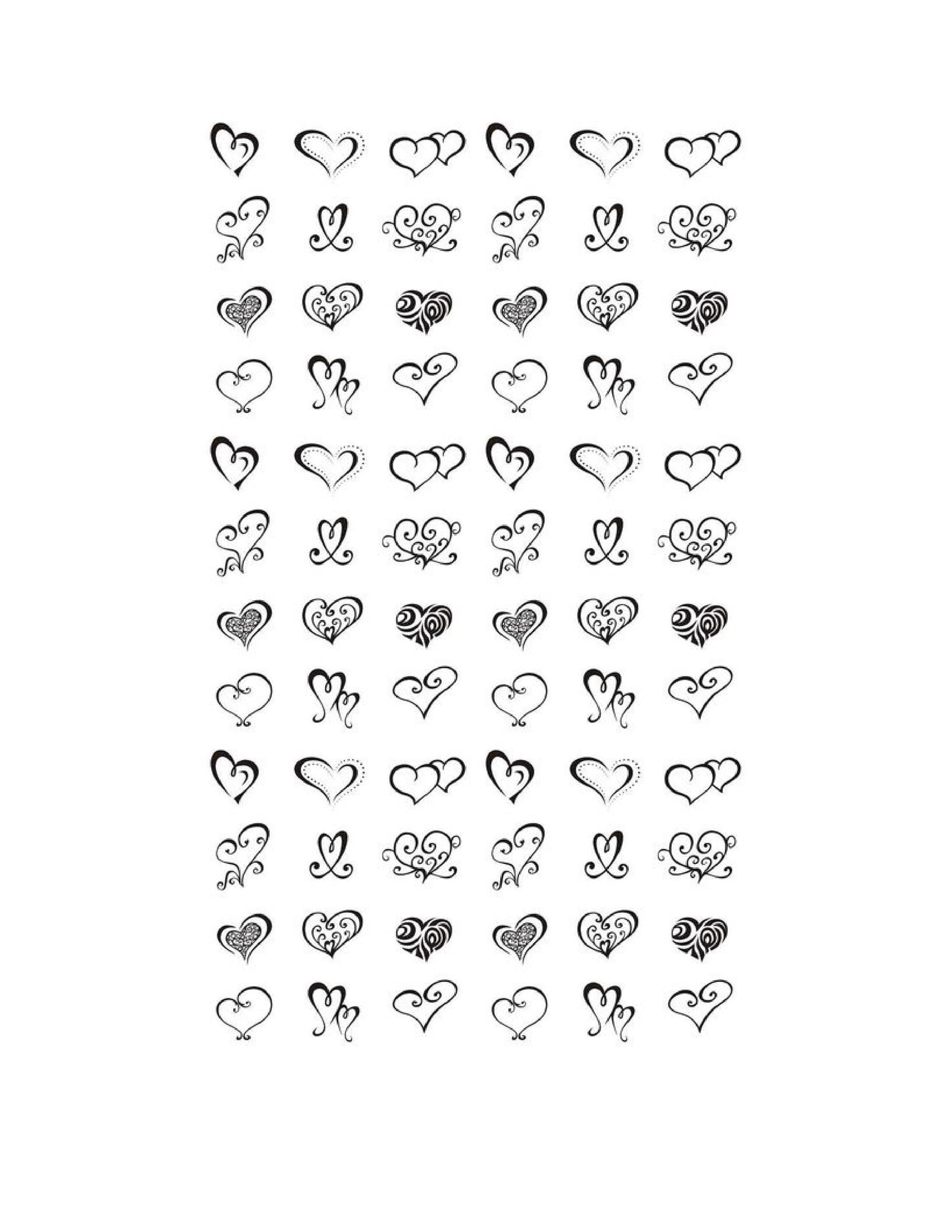 Heart shape Template 21