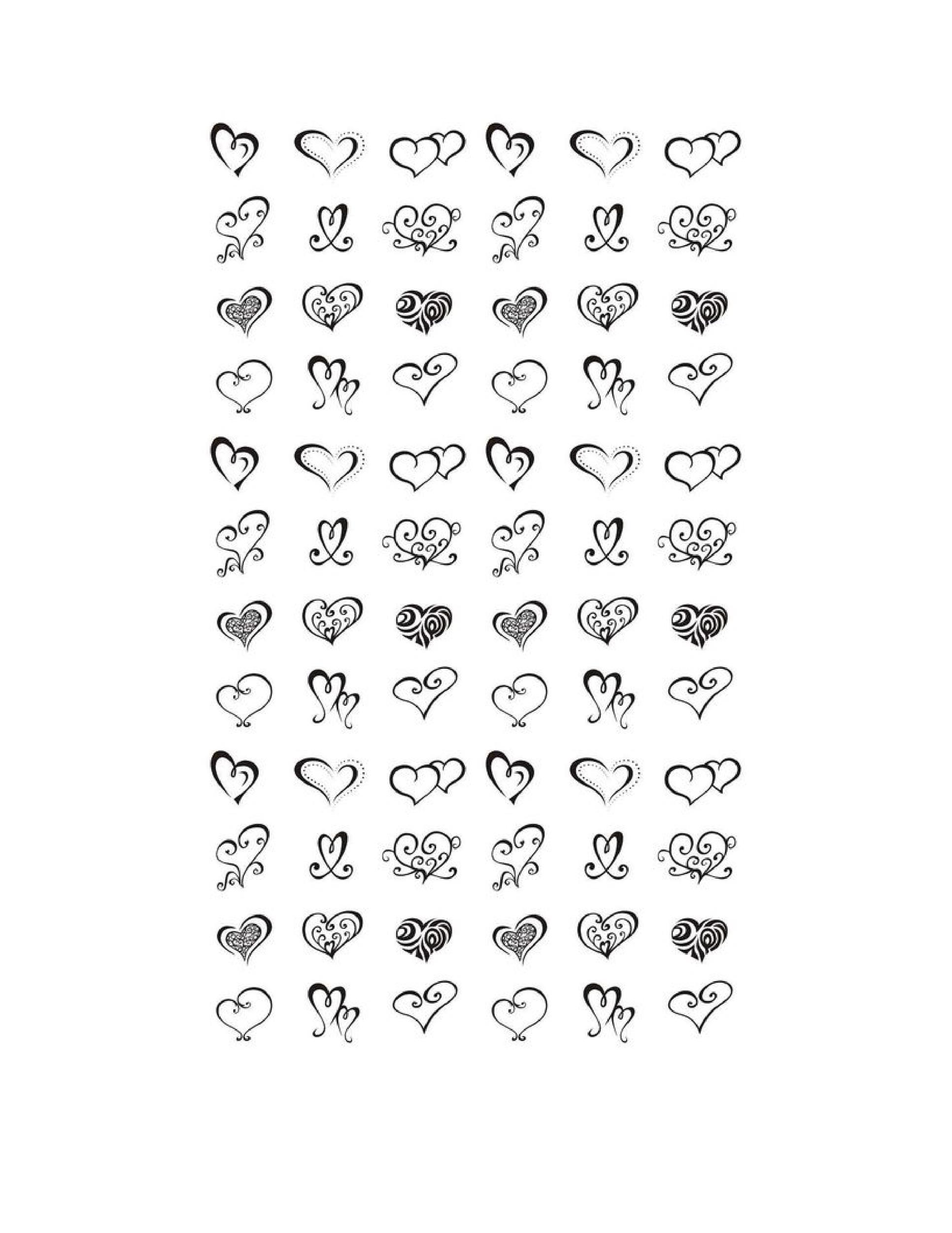 Free Heart Shape Template 21