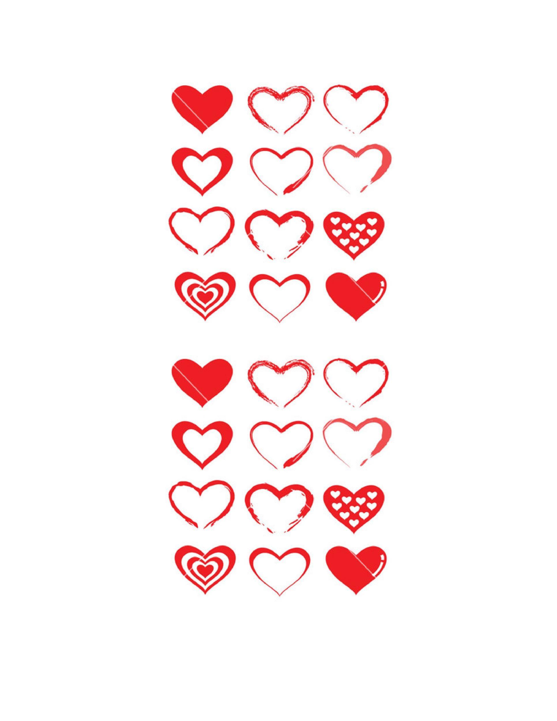 Free Heart Shape Template 22