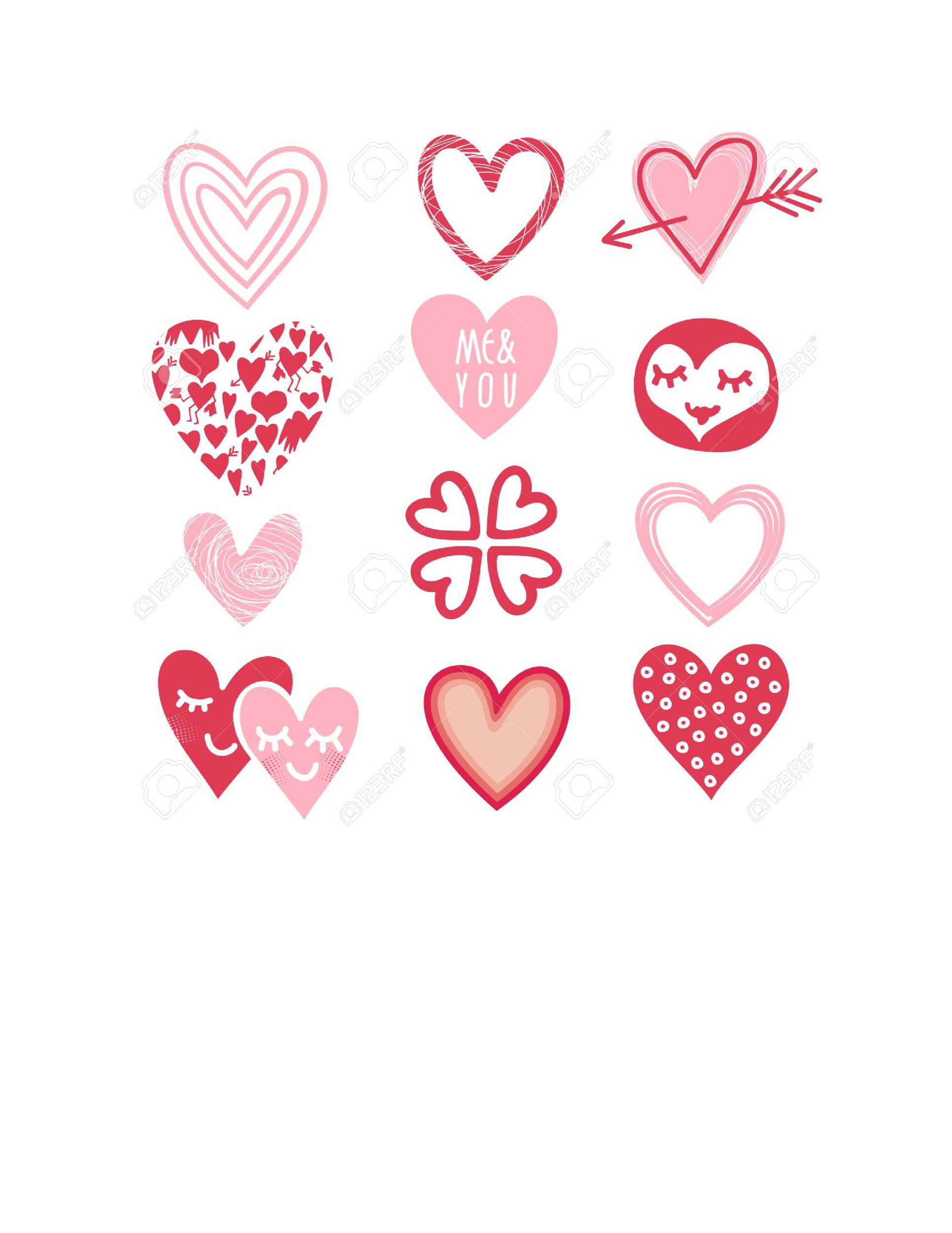 Heart shape Template 23
