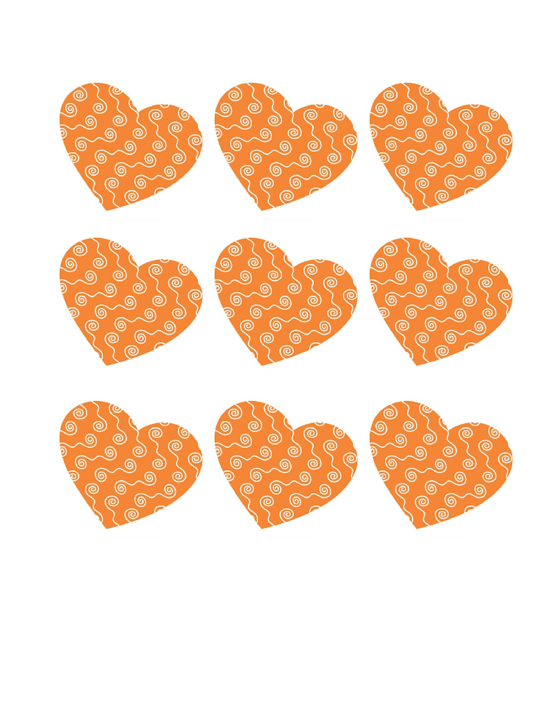 Free Heart Shape Template 24