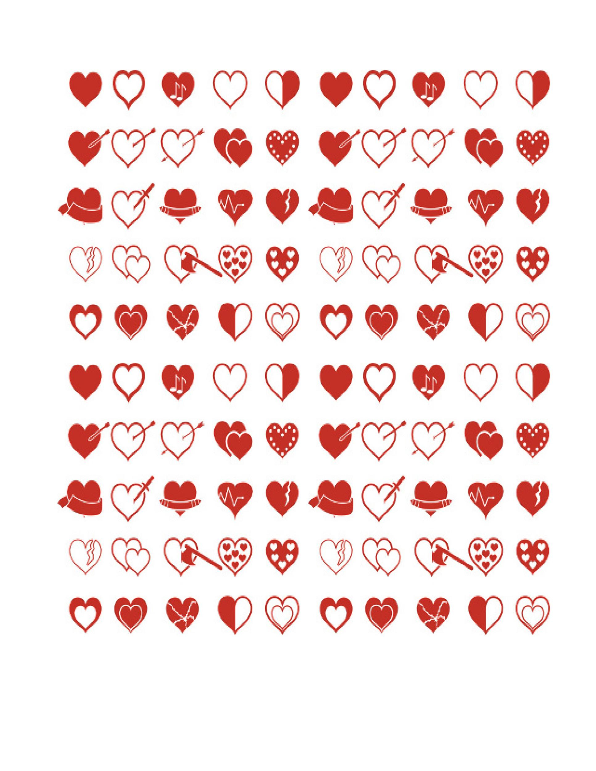 Free Heart Shape Template 25
