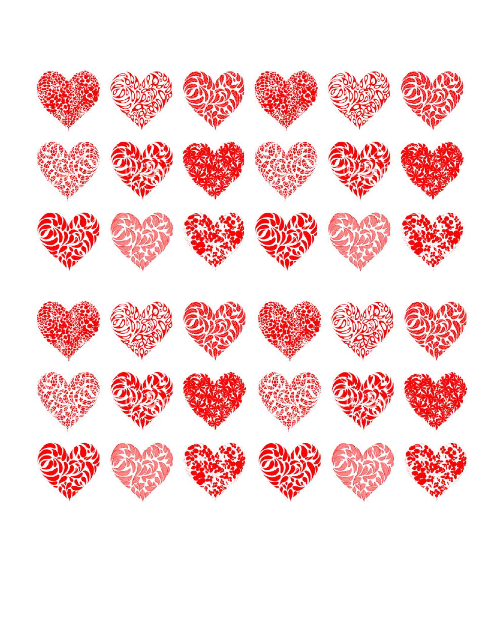 Heart shape Template 26