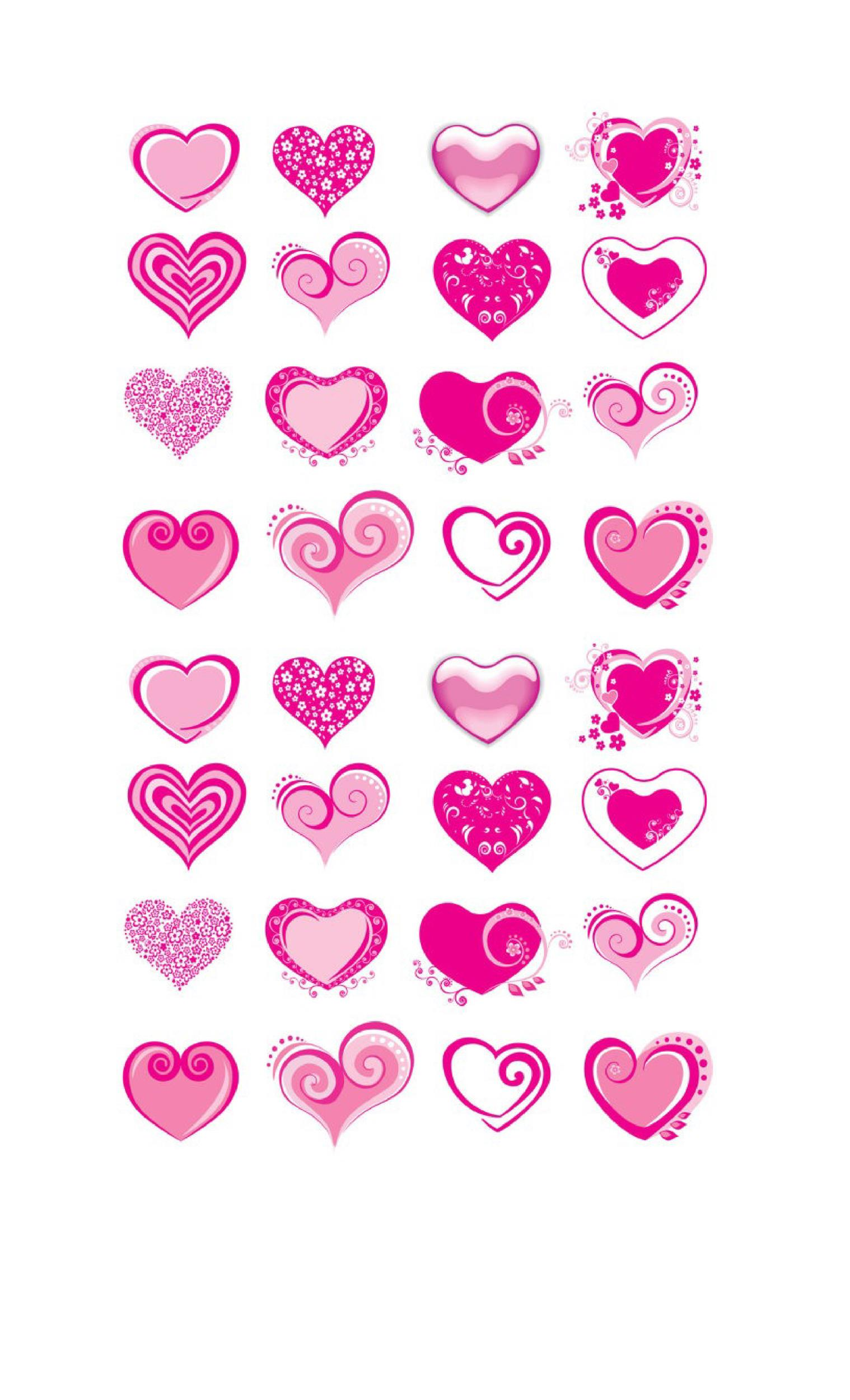 Heart shape Template 27