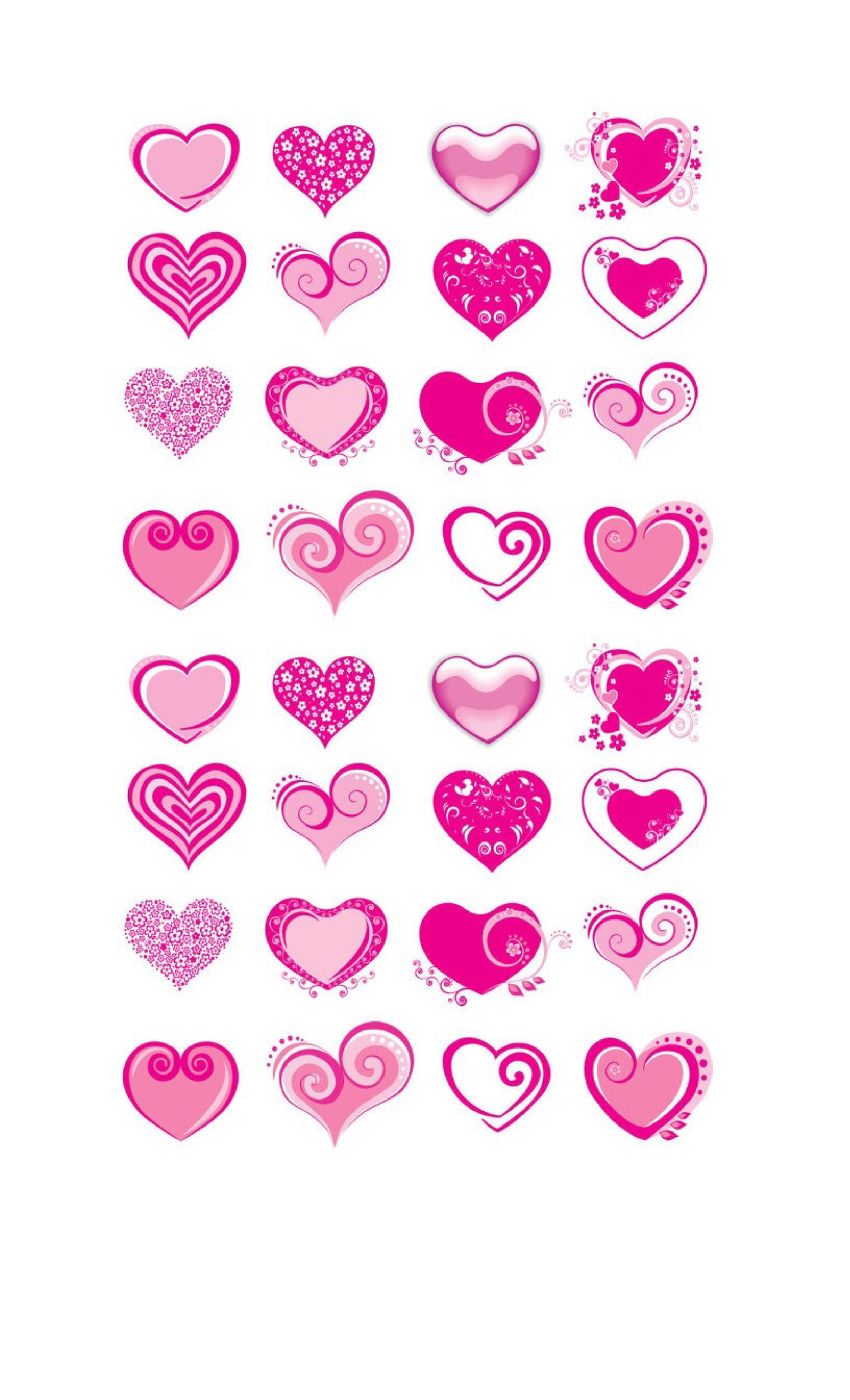 Free Heart Shape Template 27