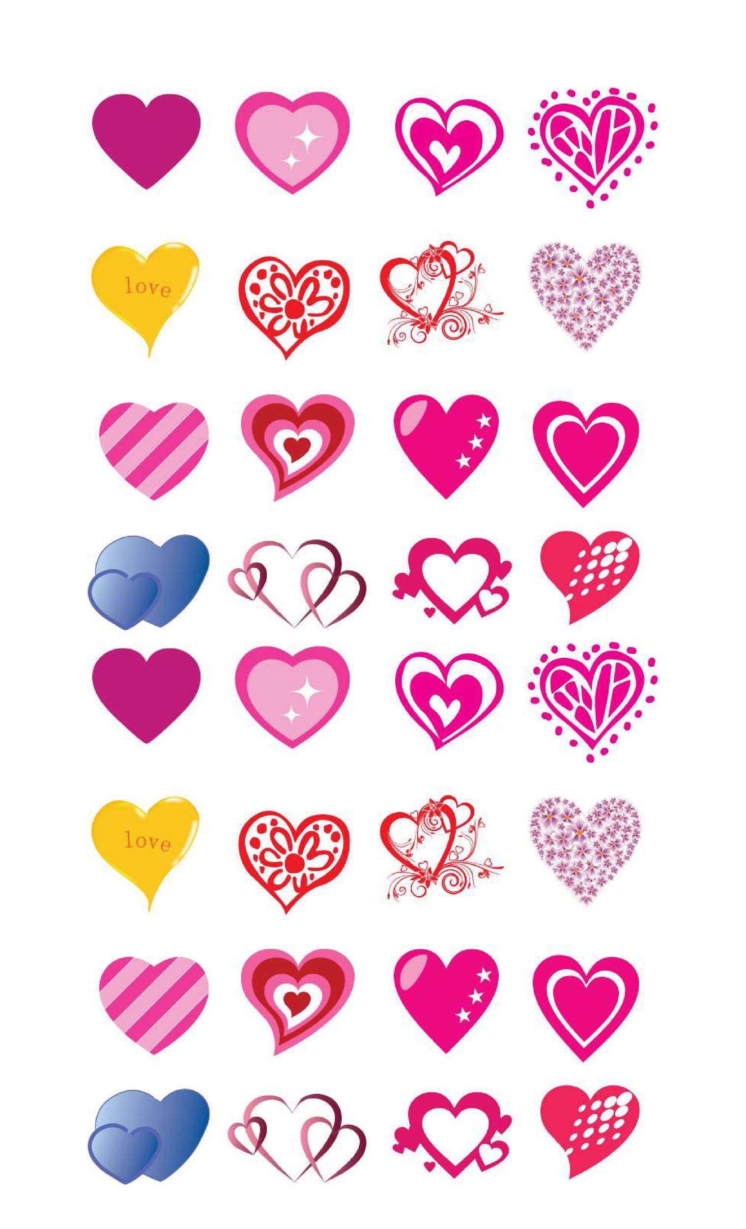 graphic regarding Hearts Printable called 40 Printable Centre Templates 15 Consumption Illustrations