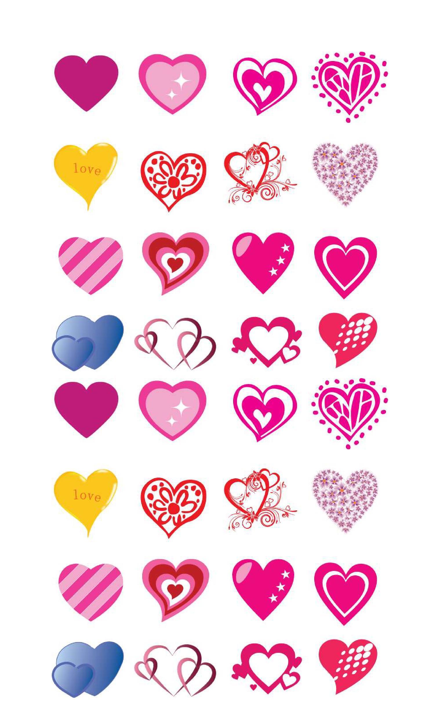 Free Heart Shape Template 28