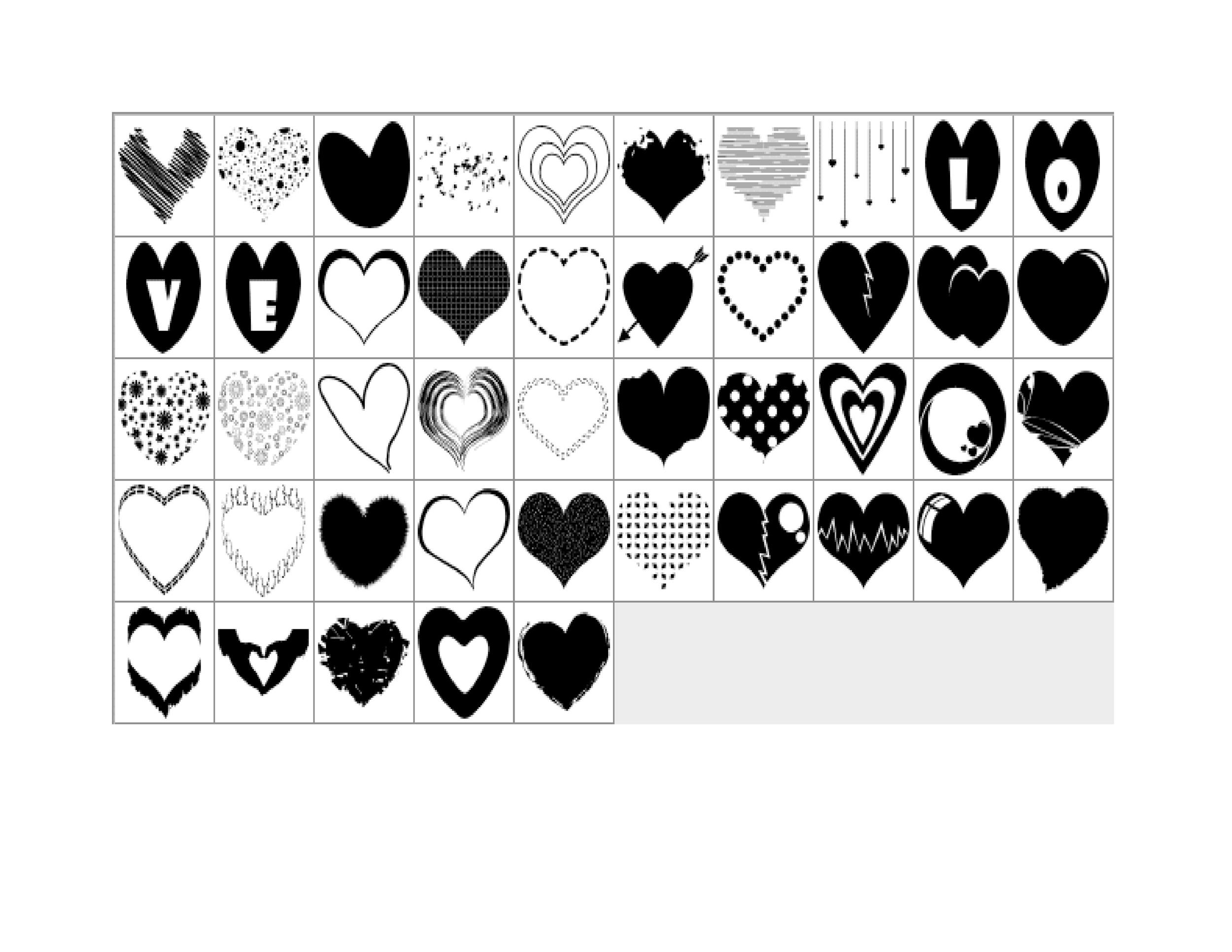 Heart shape Template 29