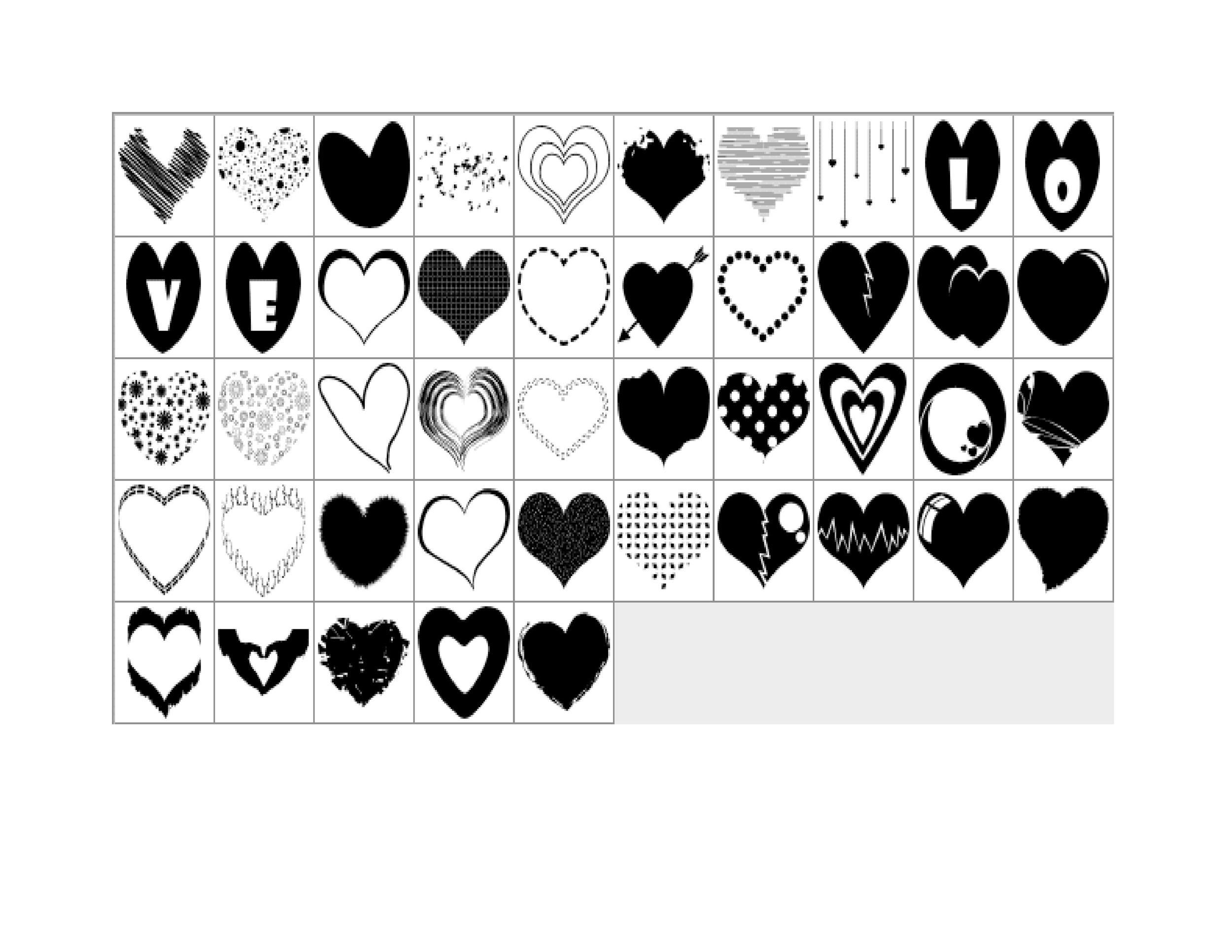 Free Heart Shape Template 29