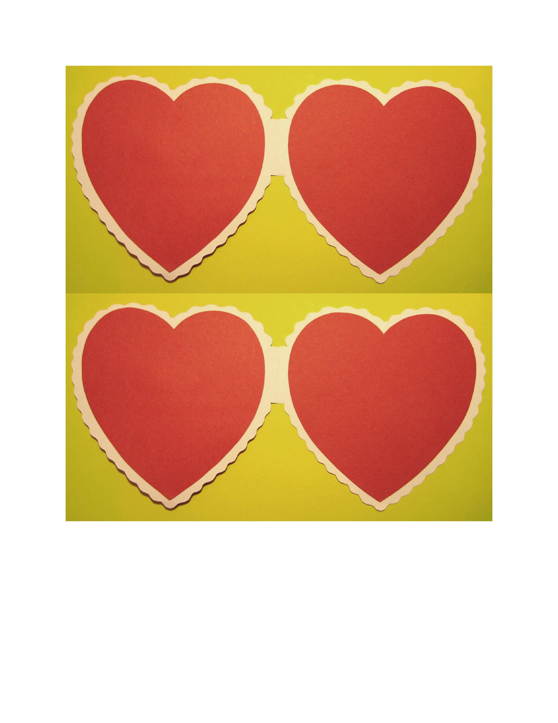 Heart shape Template 30