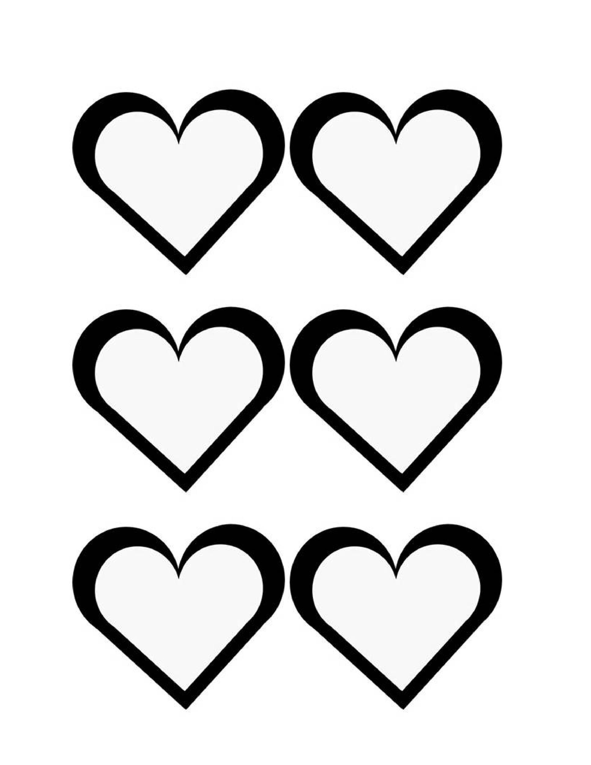 Free Heart Shape Template 31