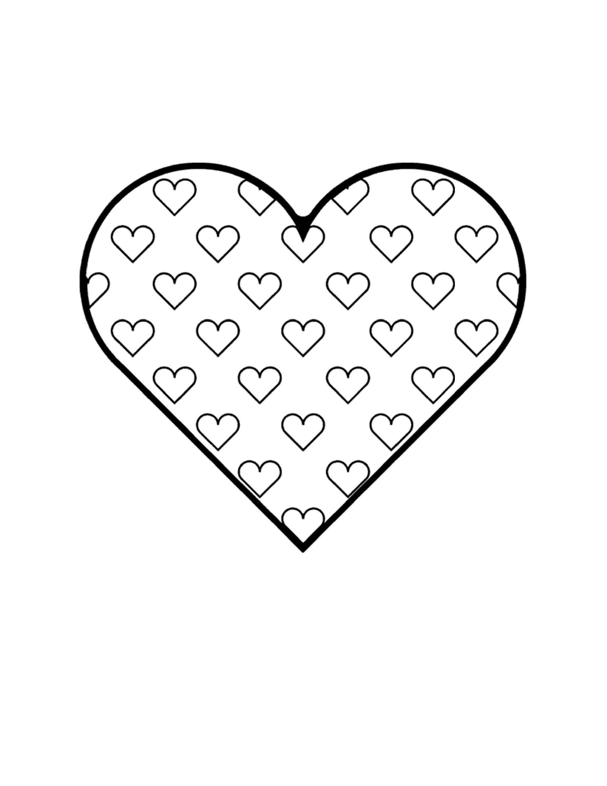 Free Heart Shape Template 33