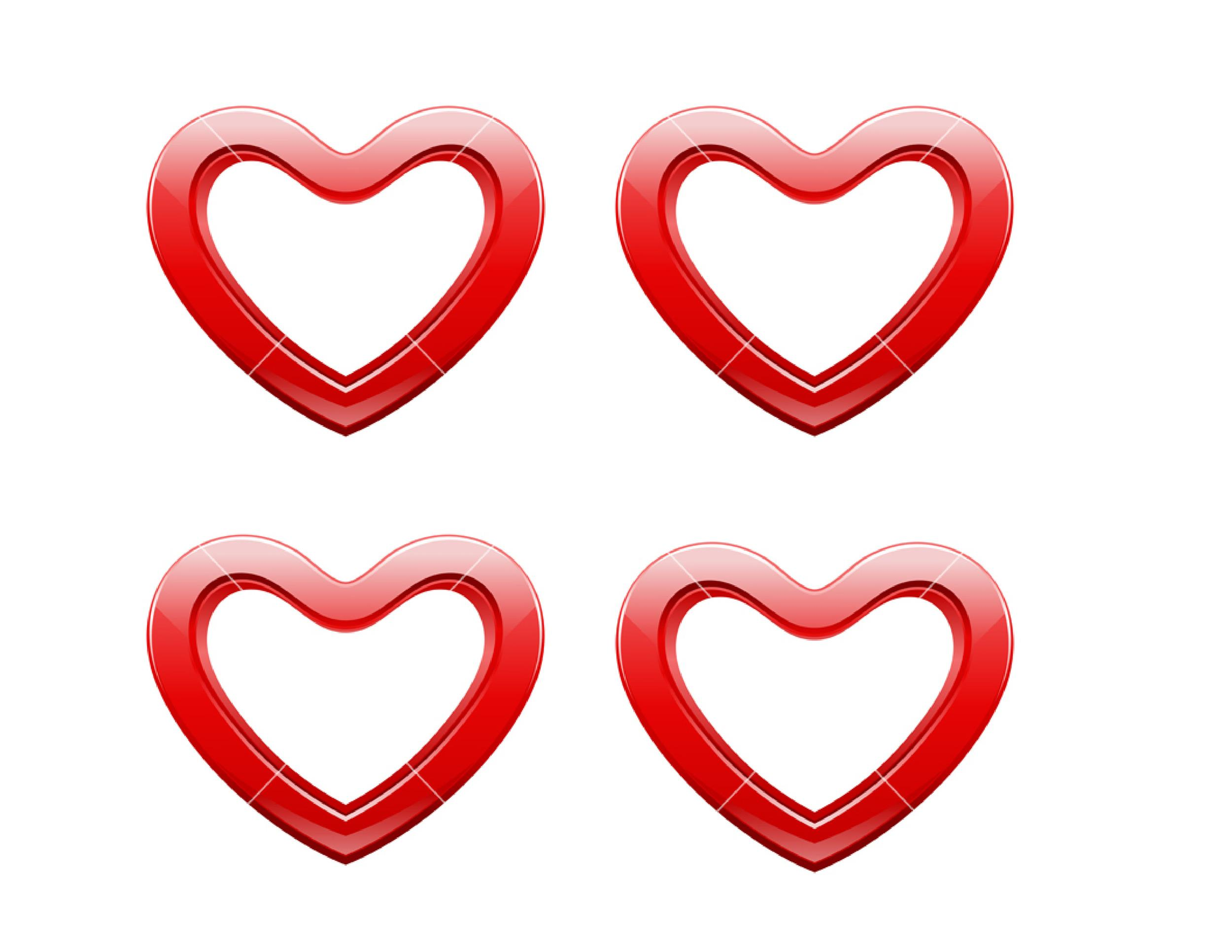Free Heart Shape Template 34