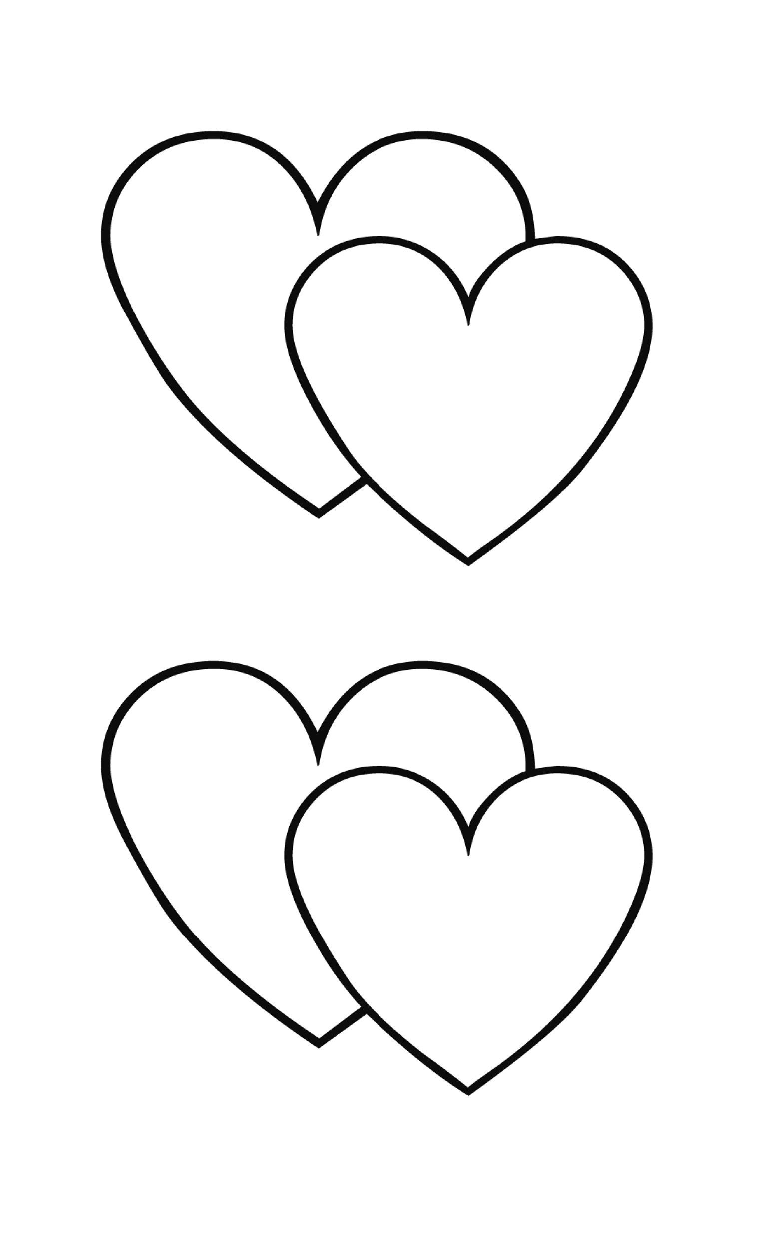 image about Hearts Printable named 40 Printable Middle Templates 15 Use Illustrations