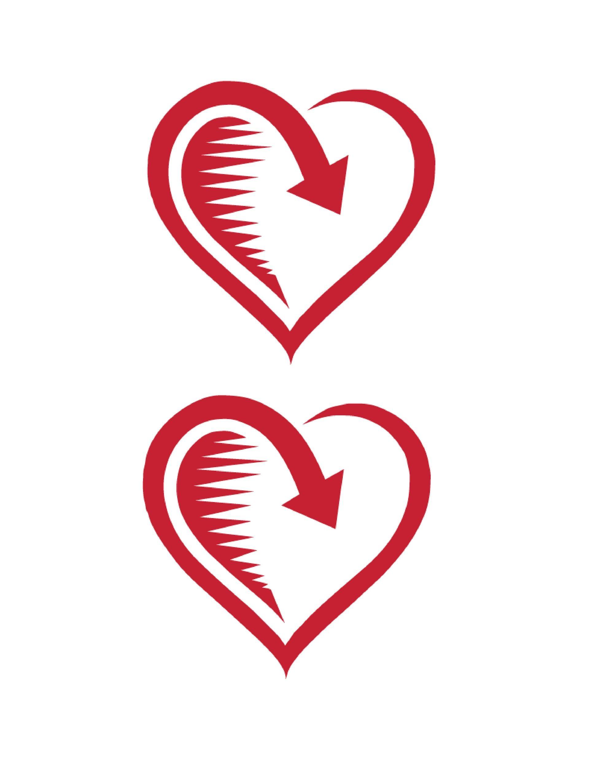 Free Heart Shape Template 38