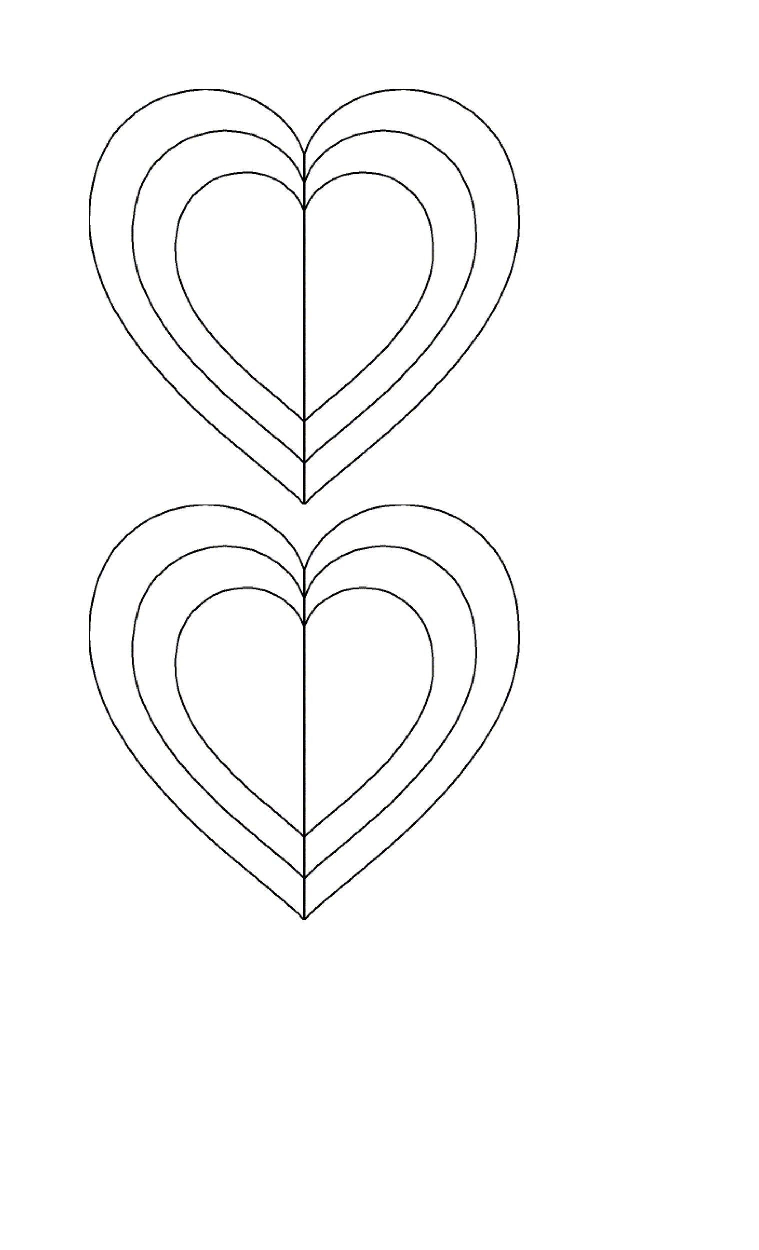 Heart shape Template 40