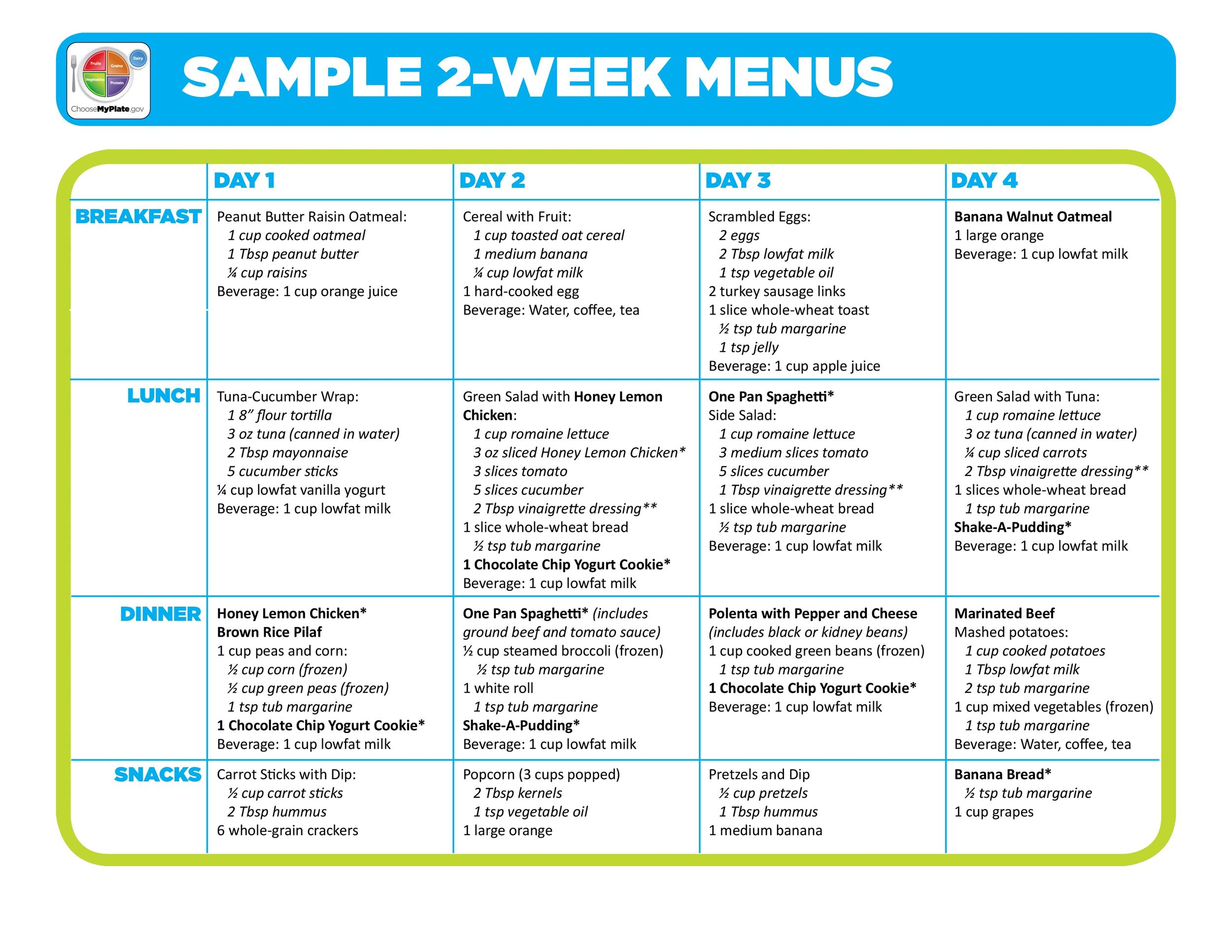 Free Meal Plan Template 16