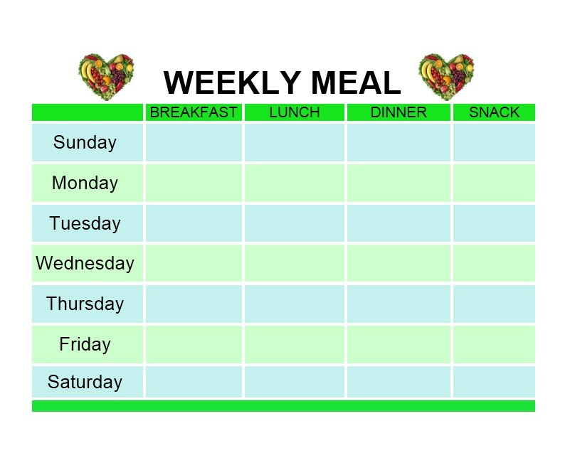 Free Meal Plan Template 19