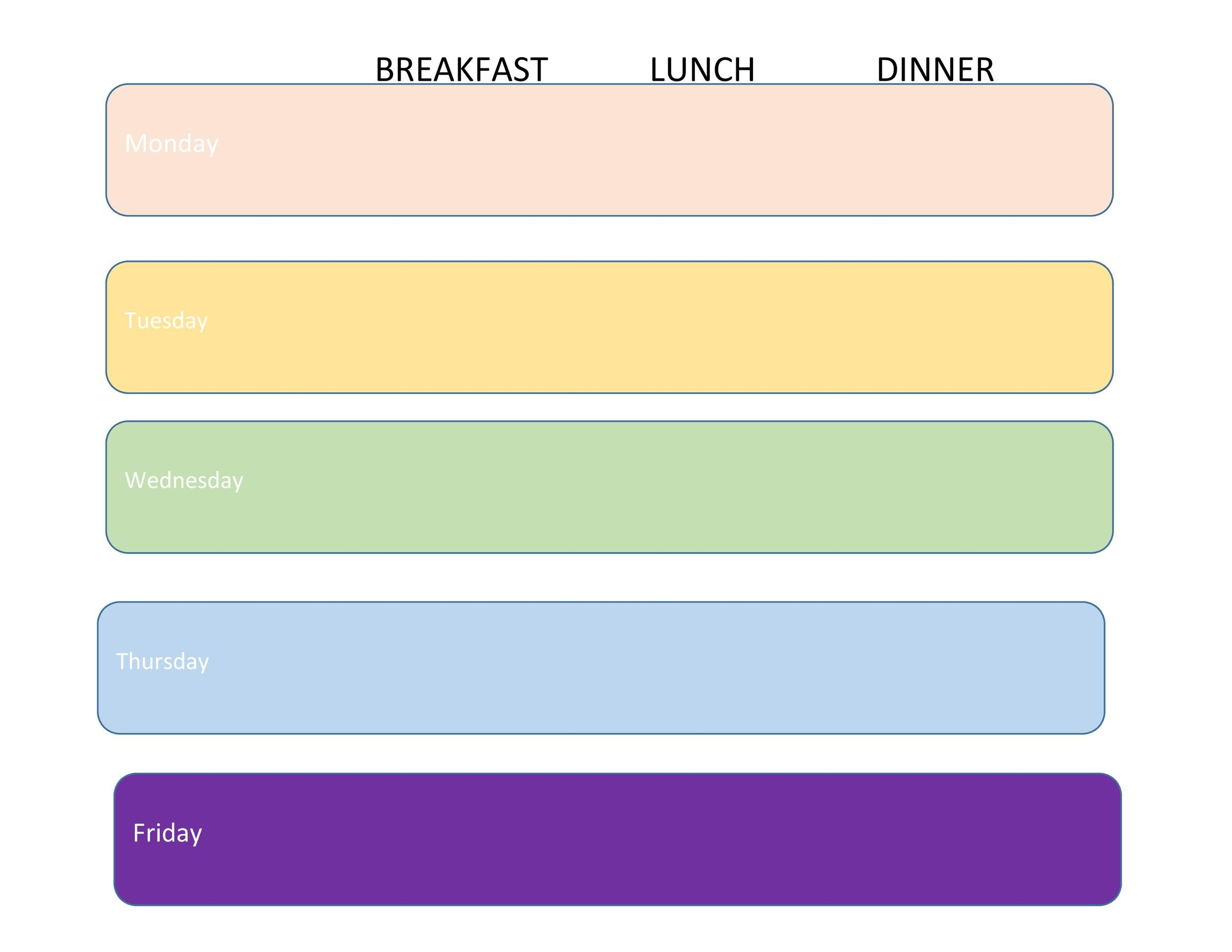 Free Meal Plan Template 23
