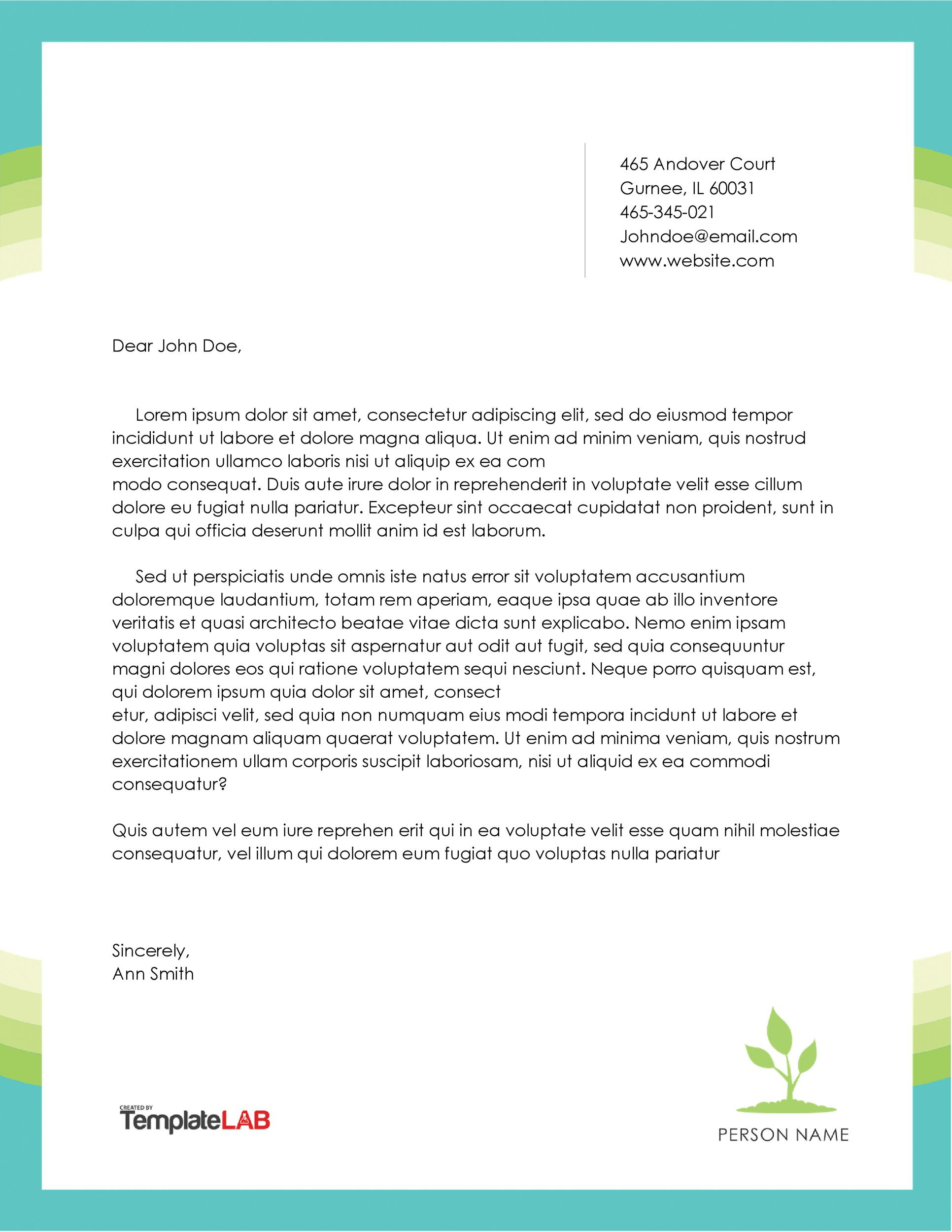 personal letterhead templates capable portrait reference letter for