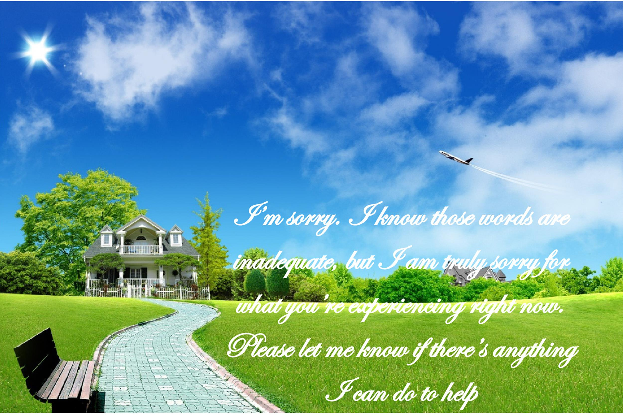 Free Sympathy Message Template 02
