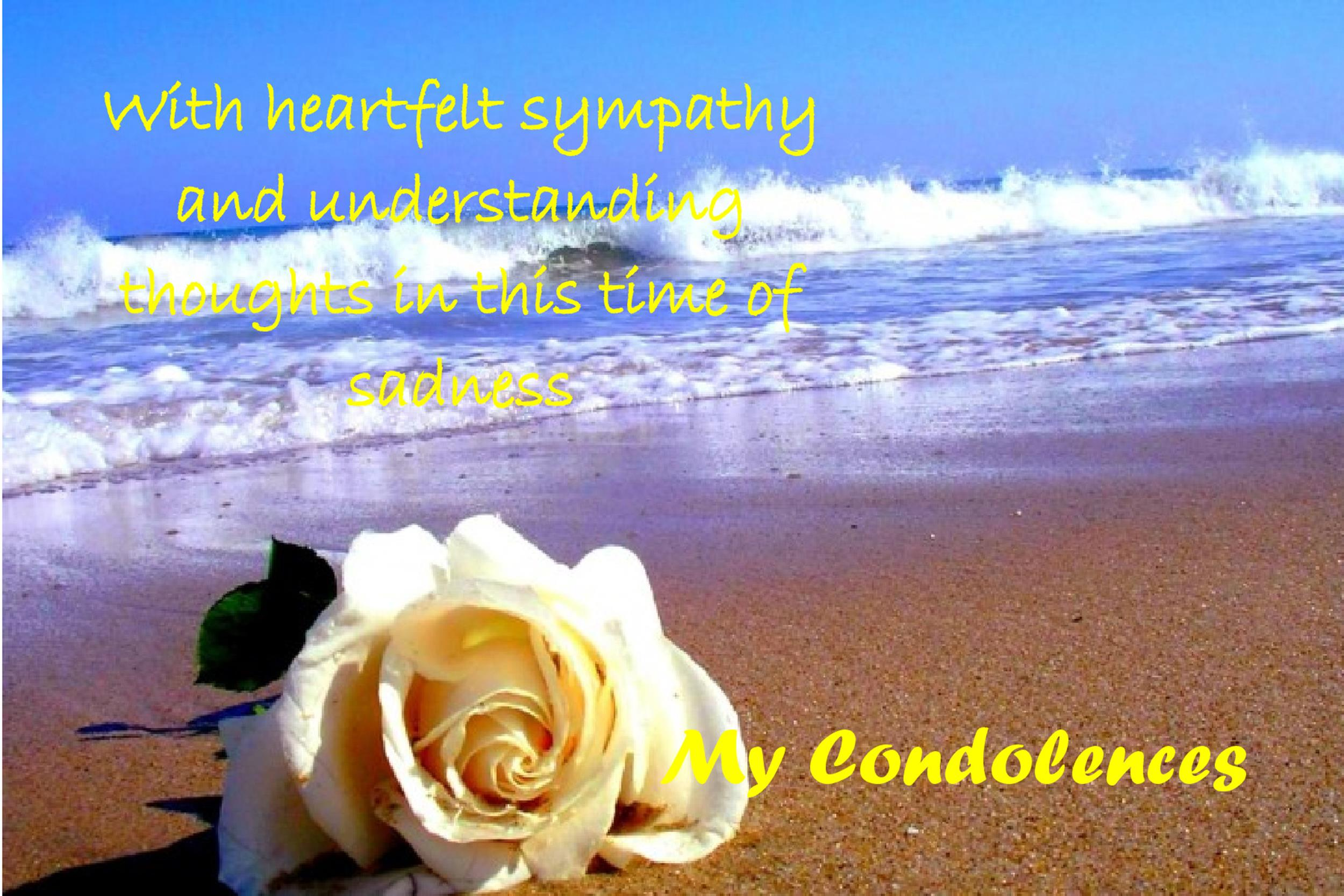 Free Sympathy Message Template 18