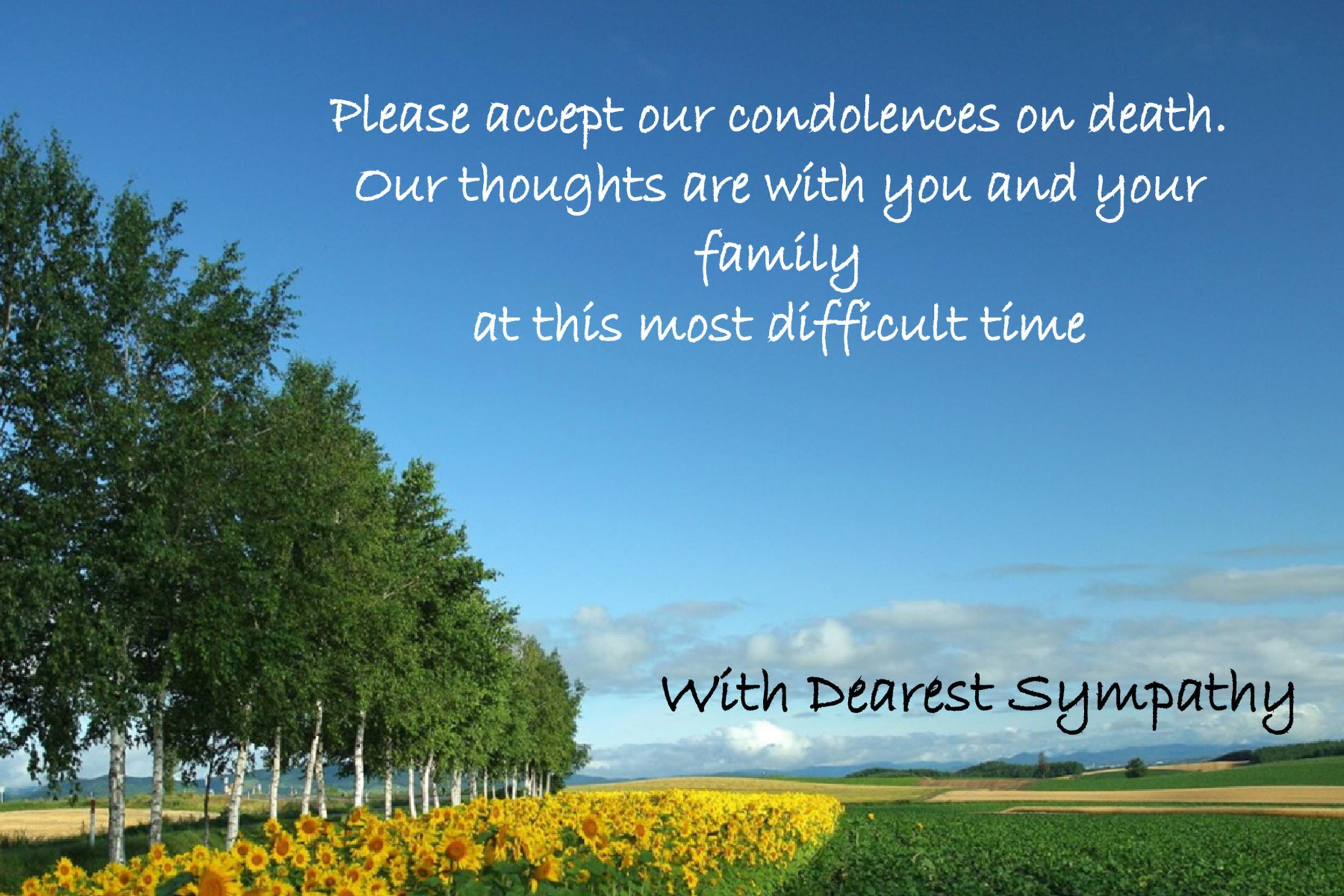 sympathy card examples