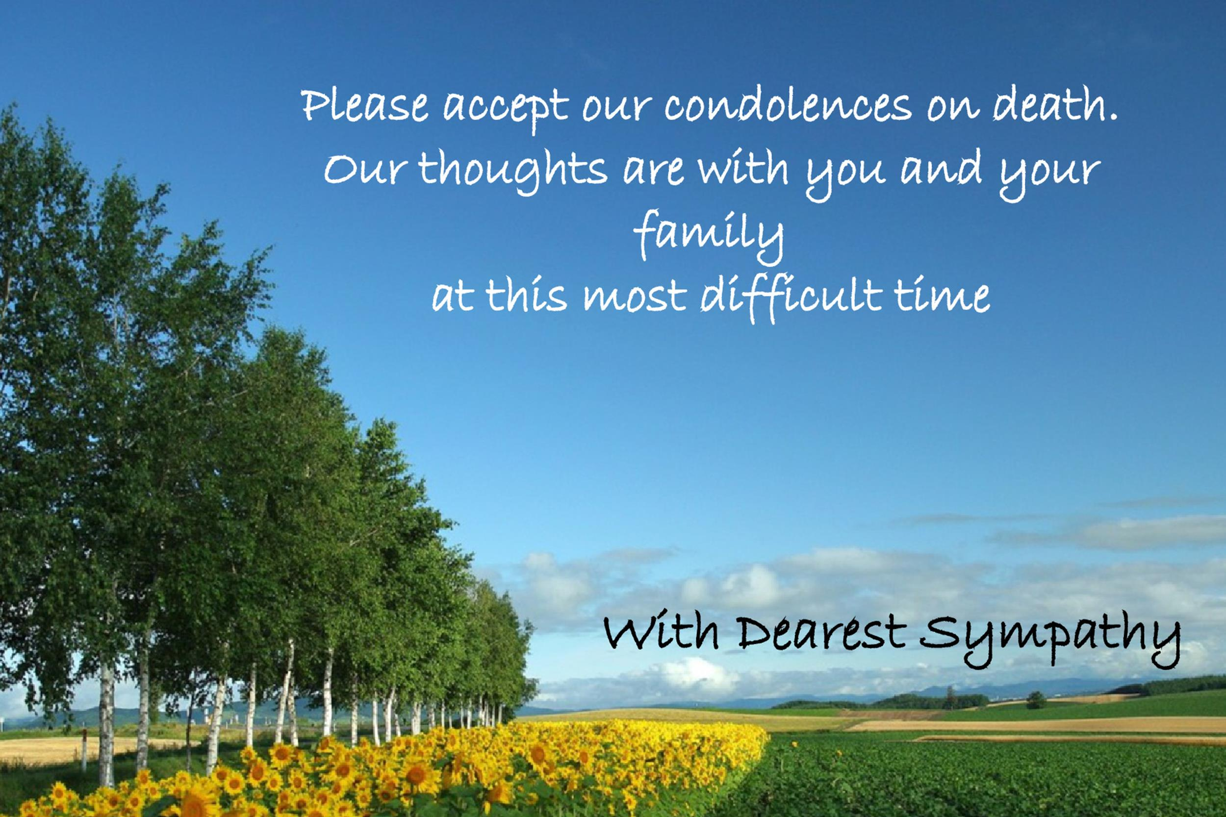 Free Sympathy Message Template 20