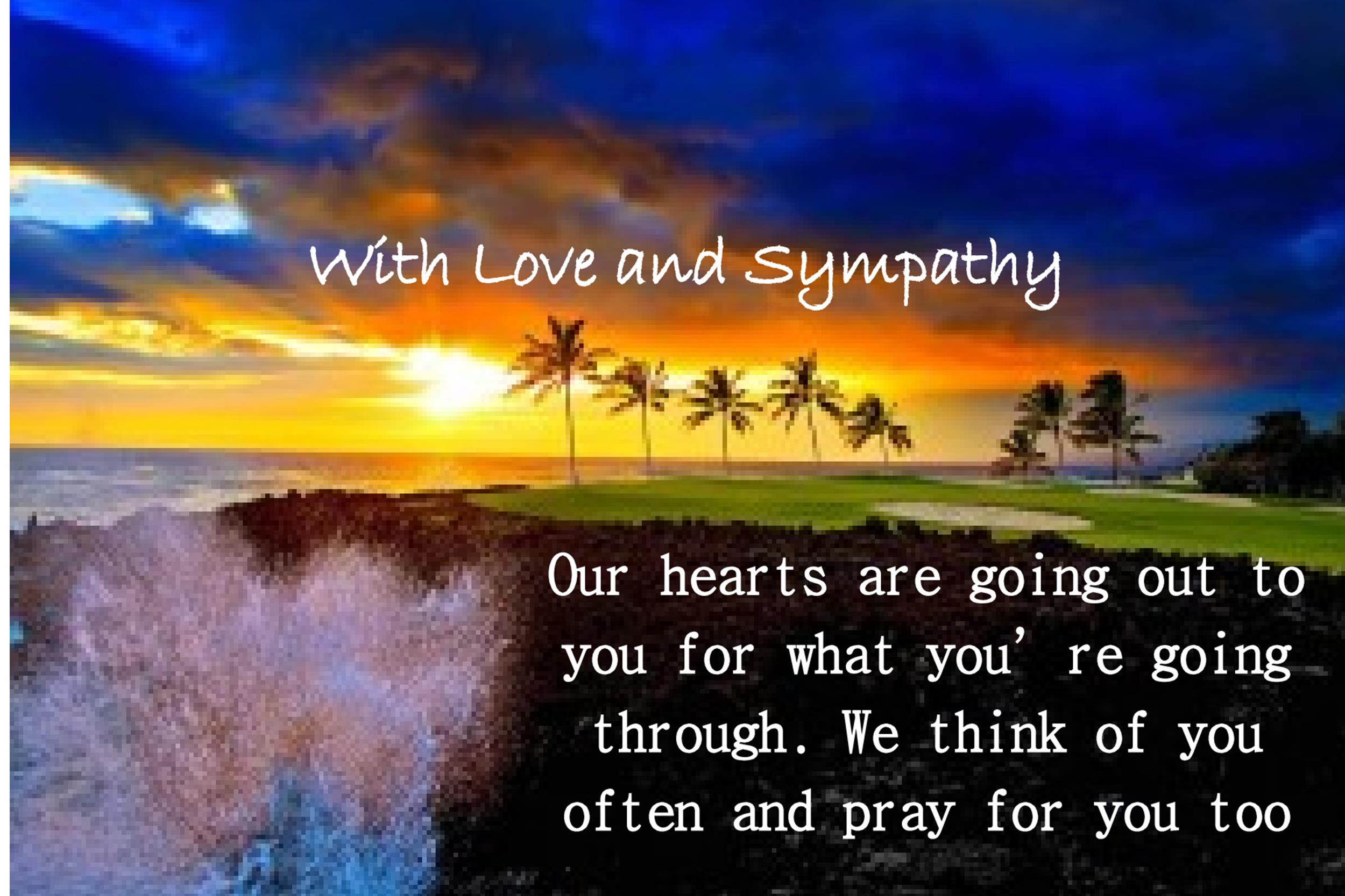 Free Sympathy Message Template 27