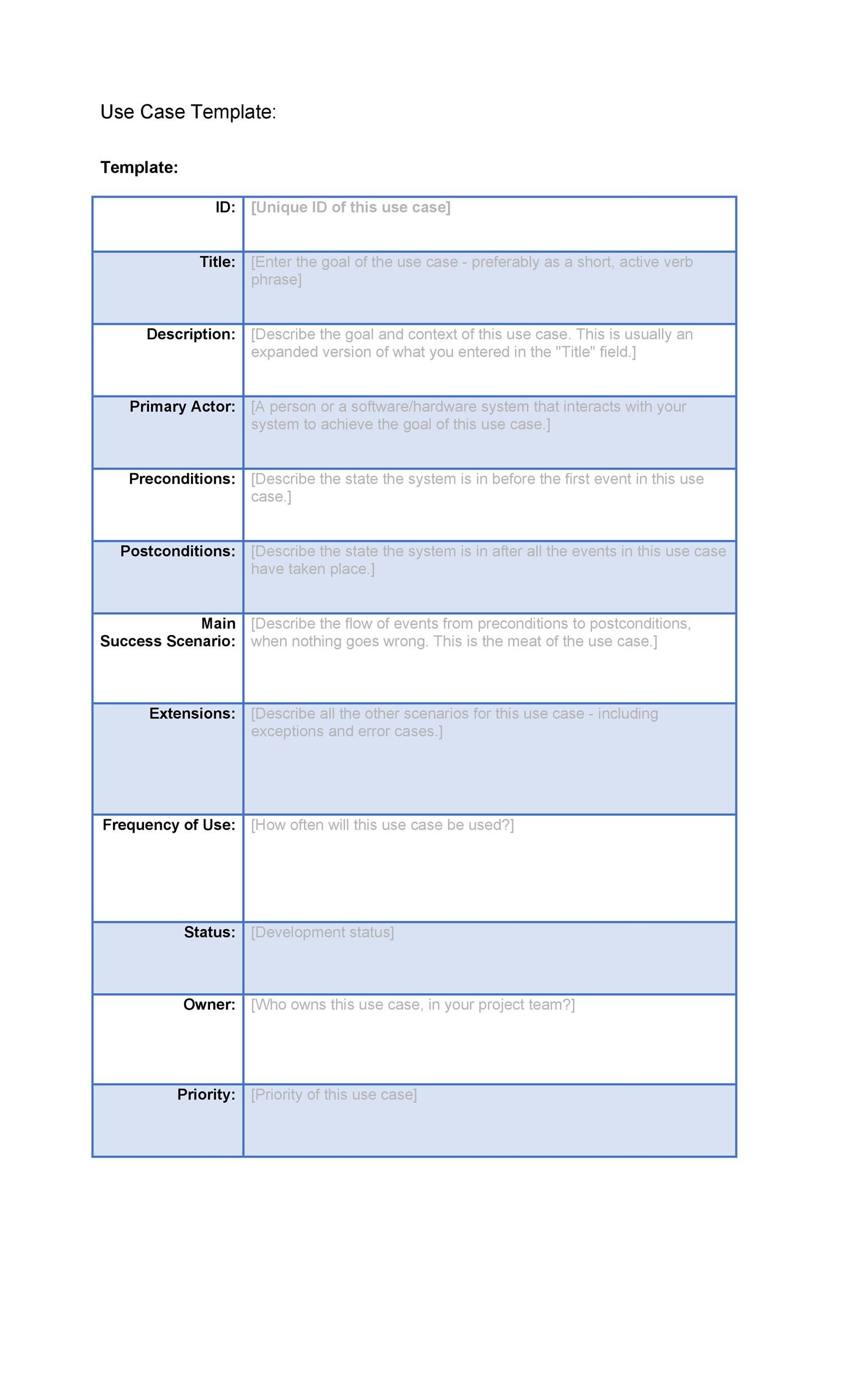 40 use case templates examples word pdf template lab for What is the purpose of a template