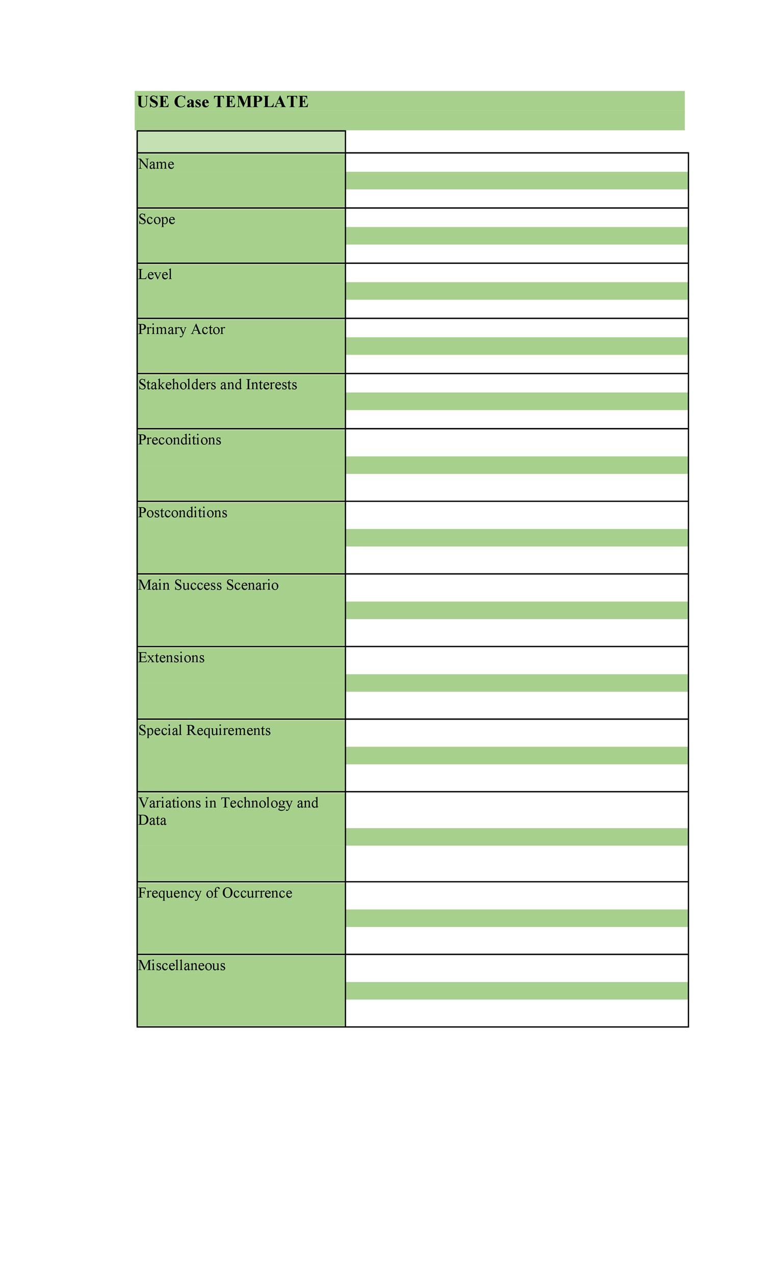 Free Use Case Template 10