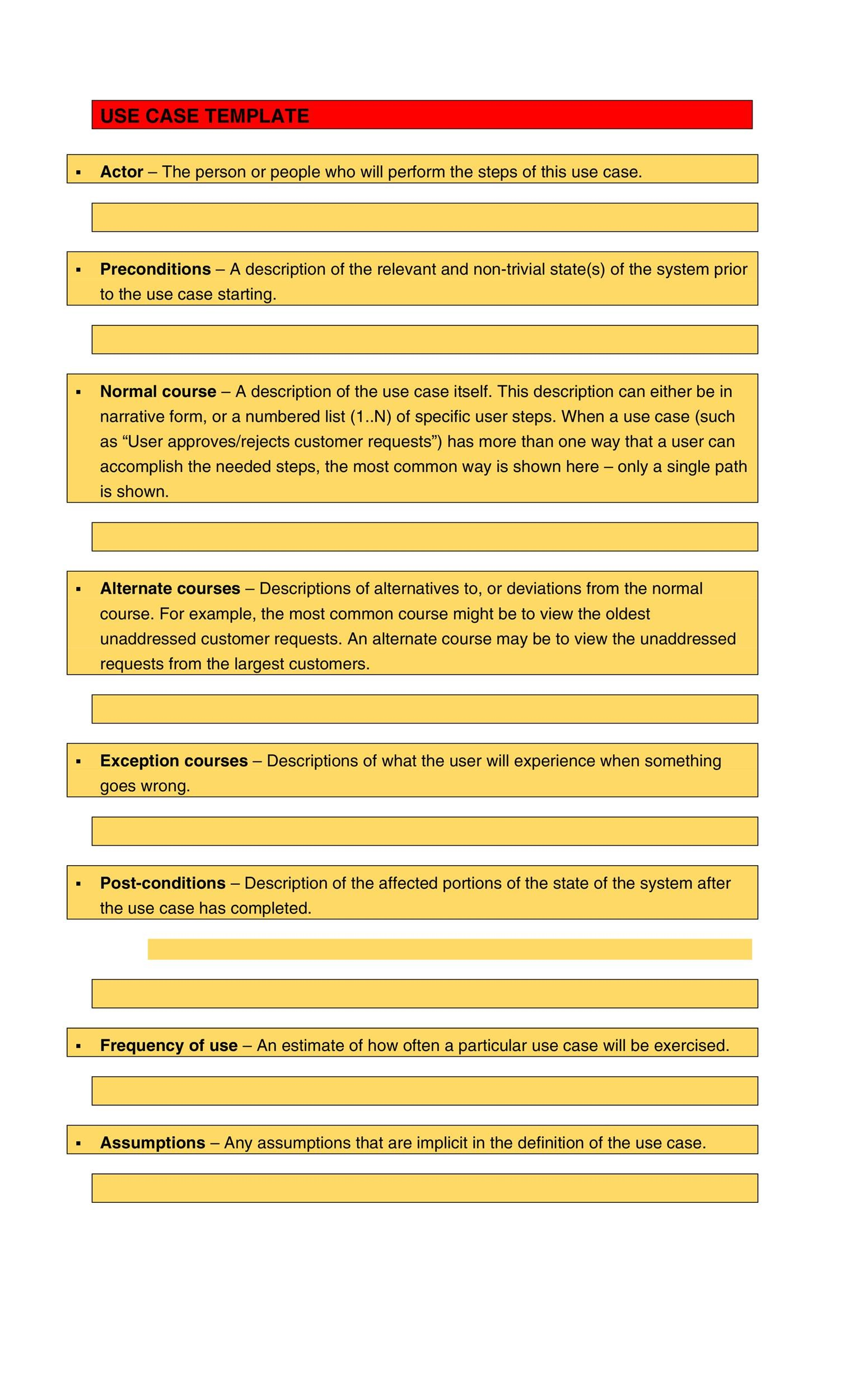 Free Use Case Template 13