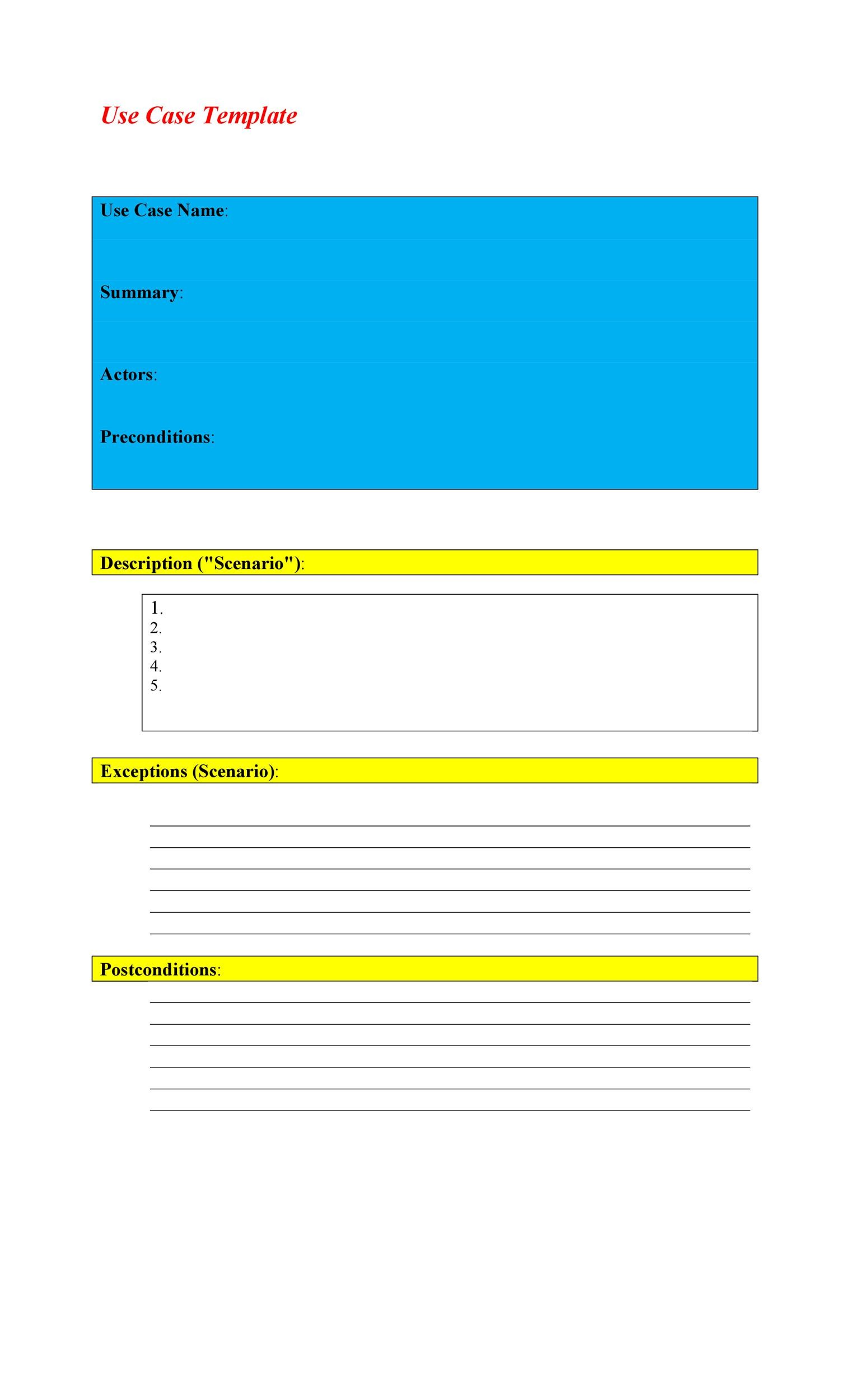 Free Use Case Template 14