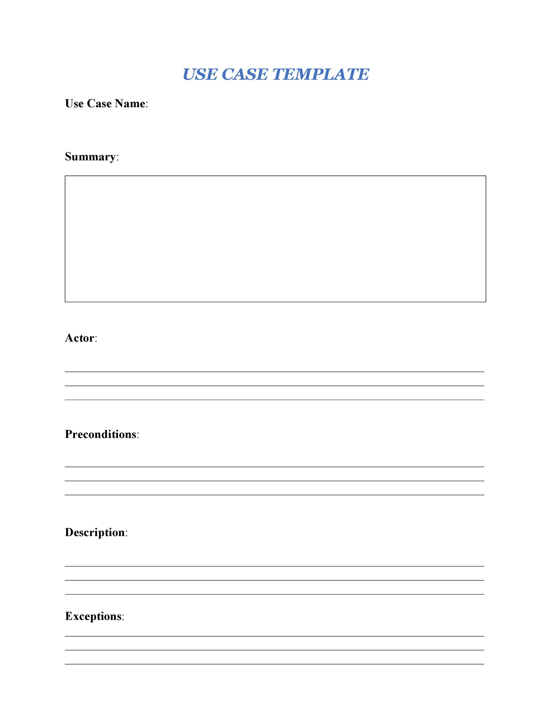 Free Use Case Template 15