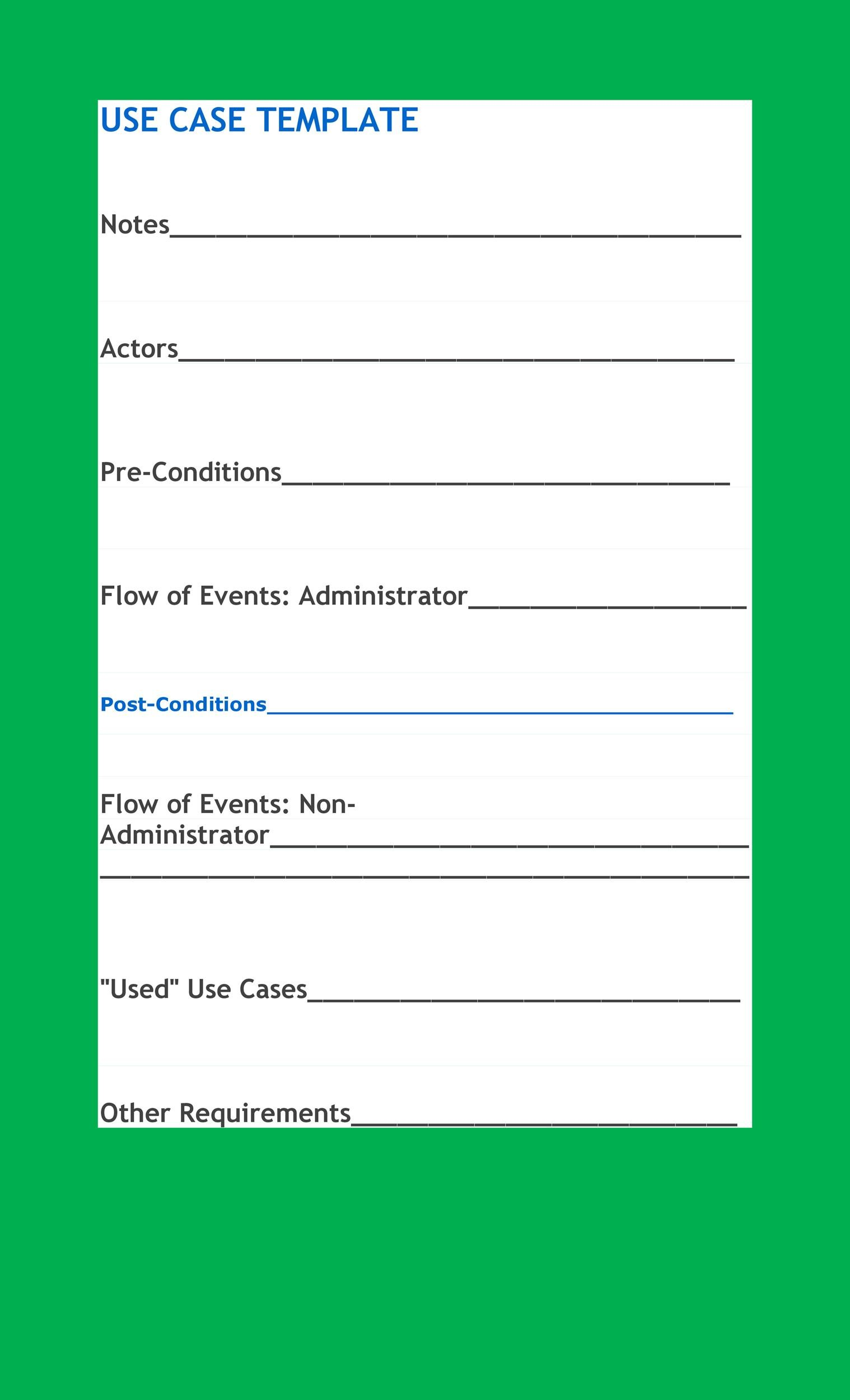 Free Use Case Template 18
