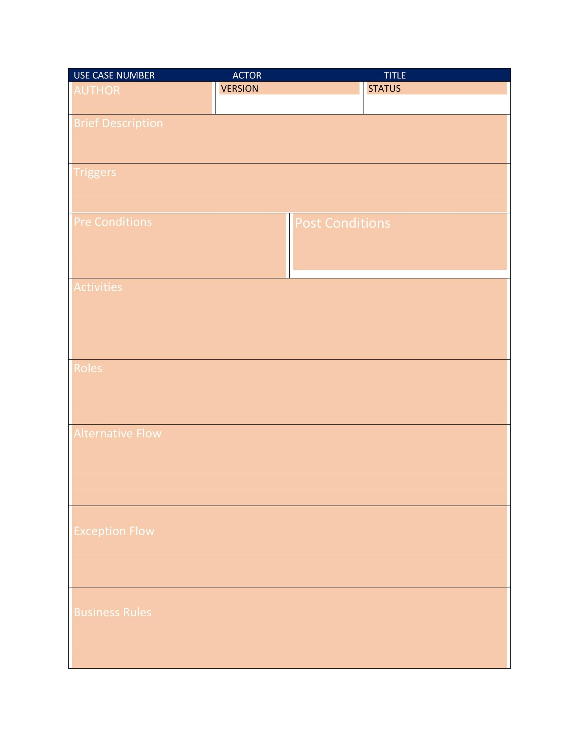 Free Use Case Template 19