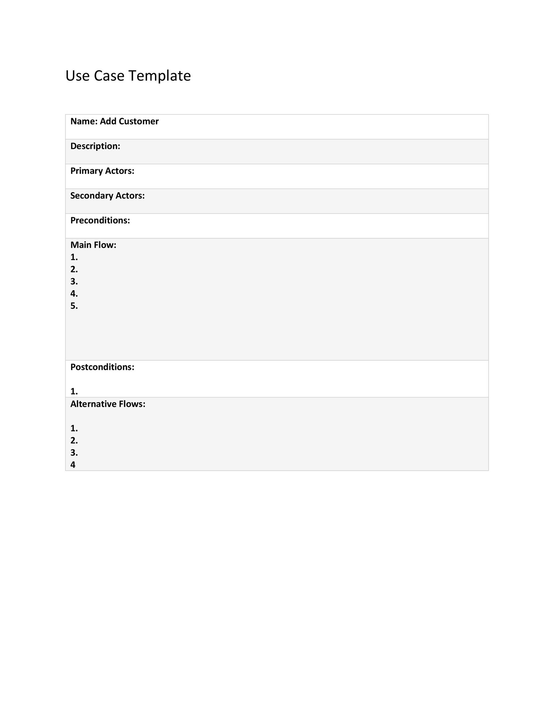 Free Use Case Template 27