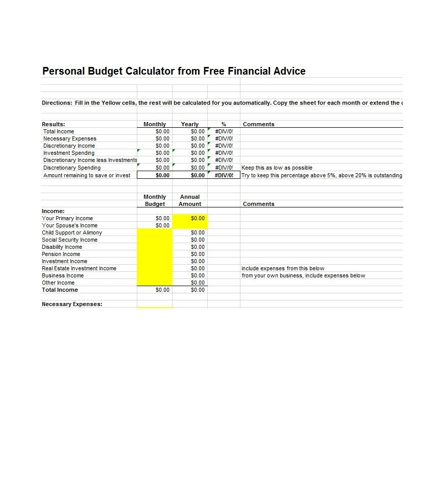 Free Budget Template 04