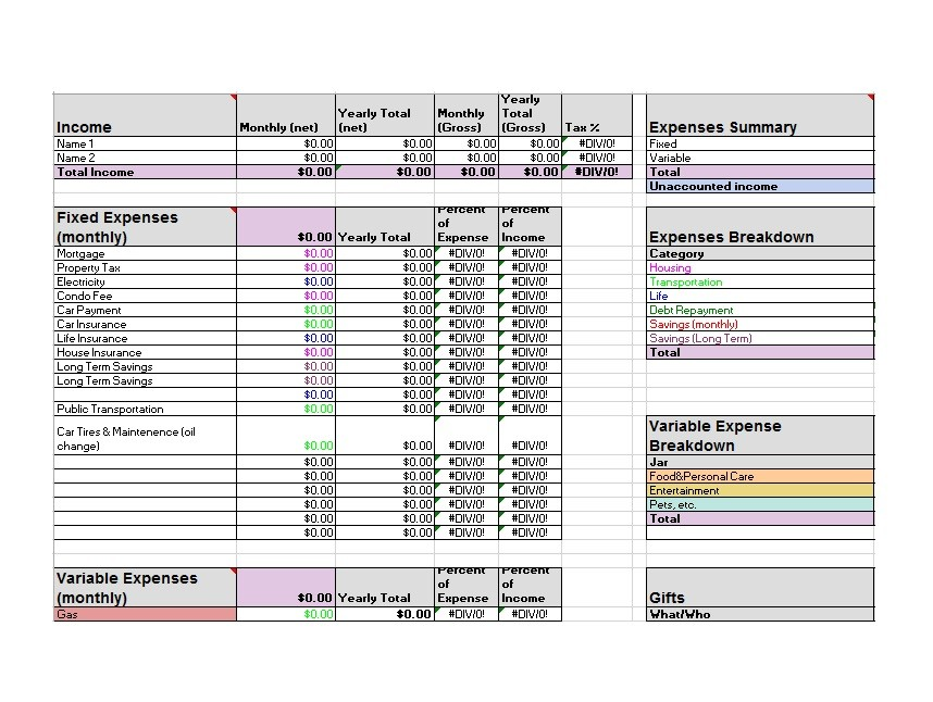 Free Budget Template 07