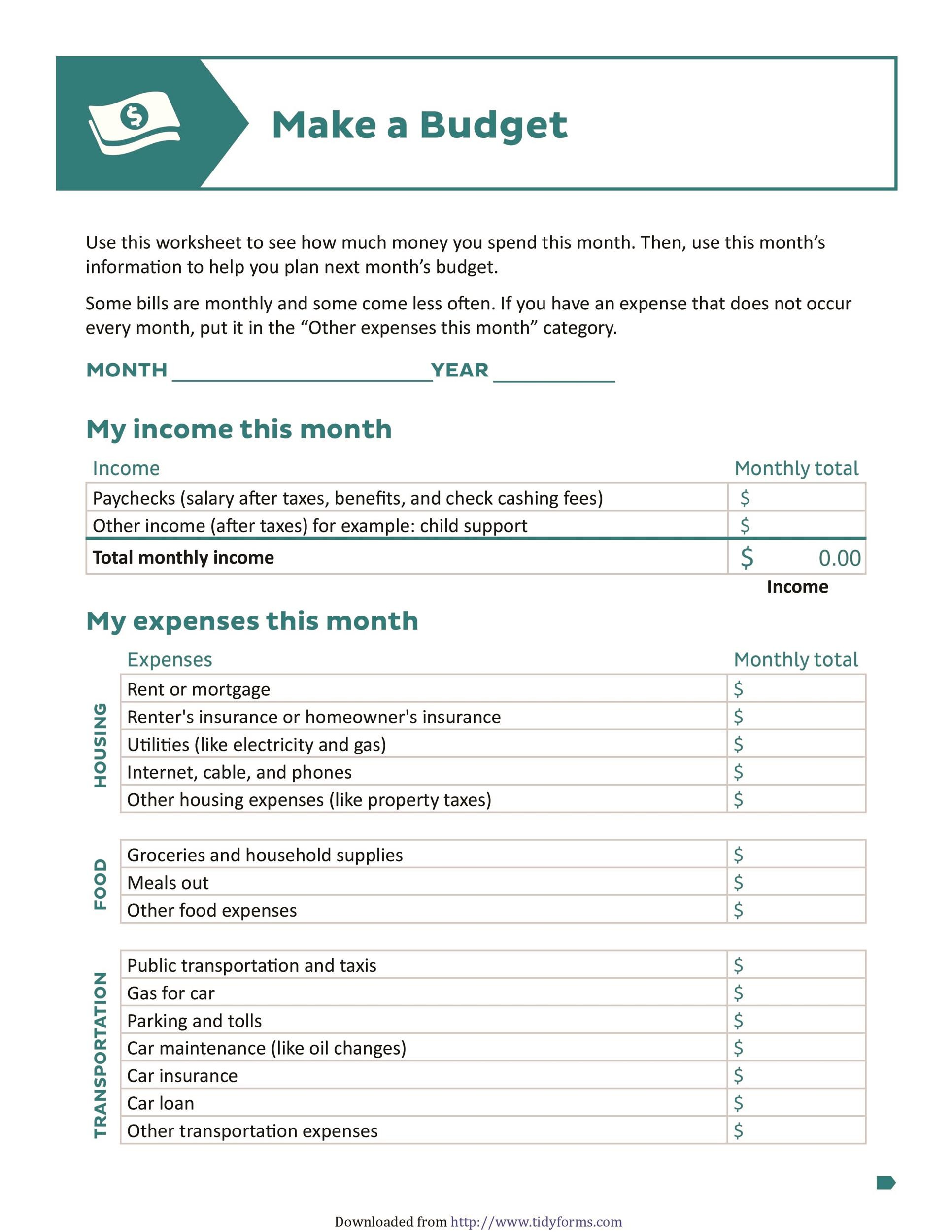 30 Budget Templates Budget Worksheets Excel PDF Template Lab – How Does a Monthly Budget Worksheet Help You