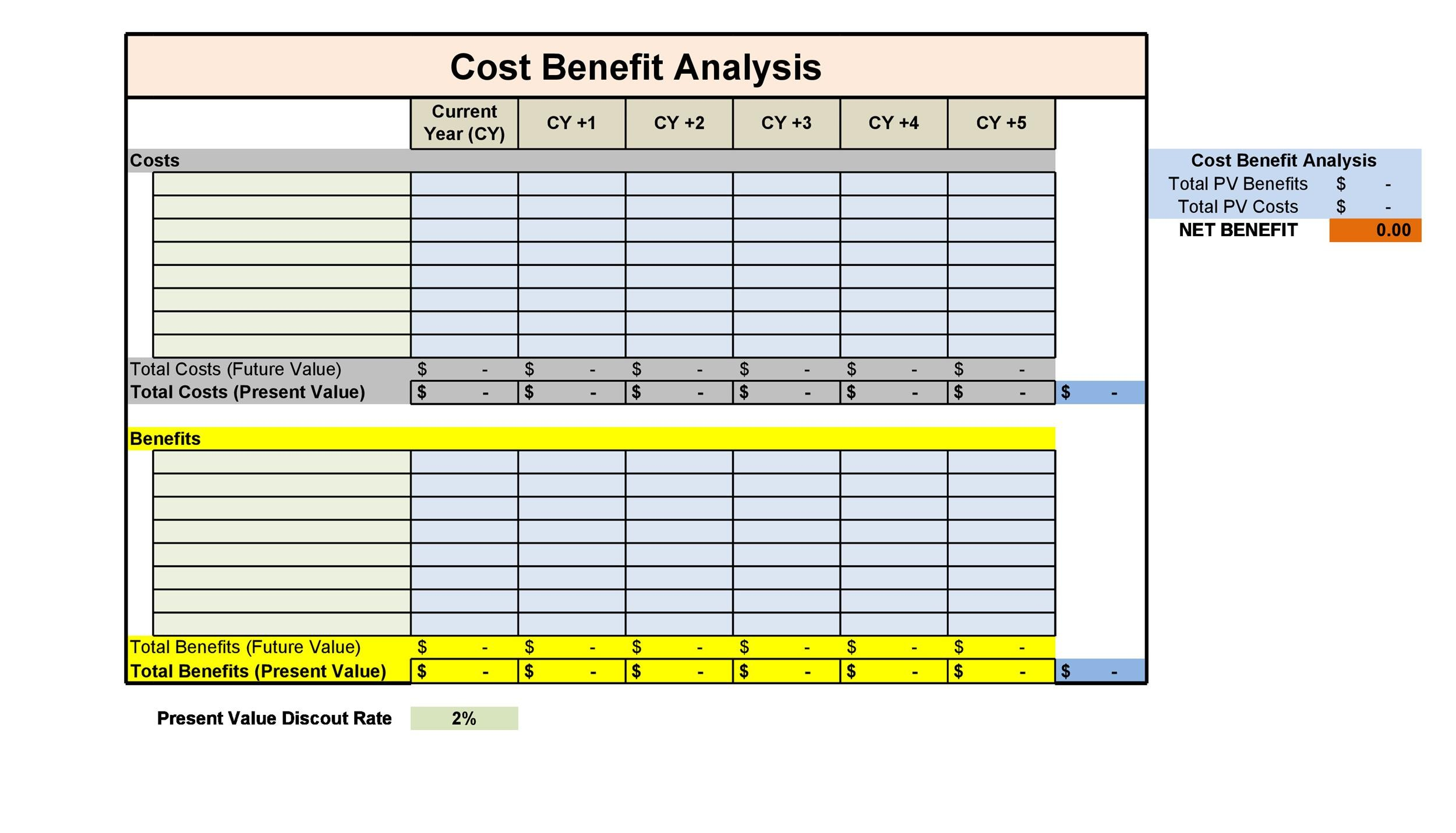 Free Cost Benefit Analysis Template 09