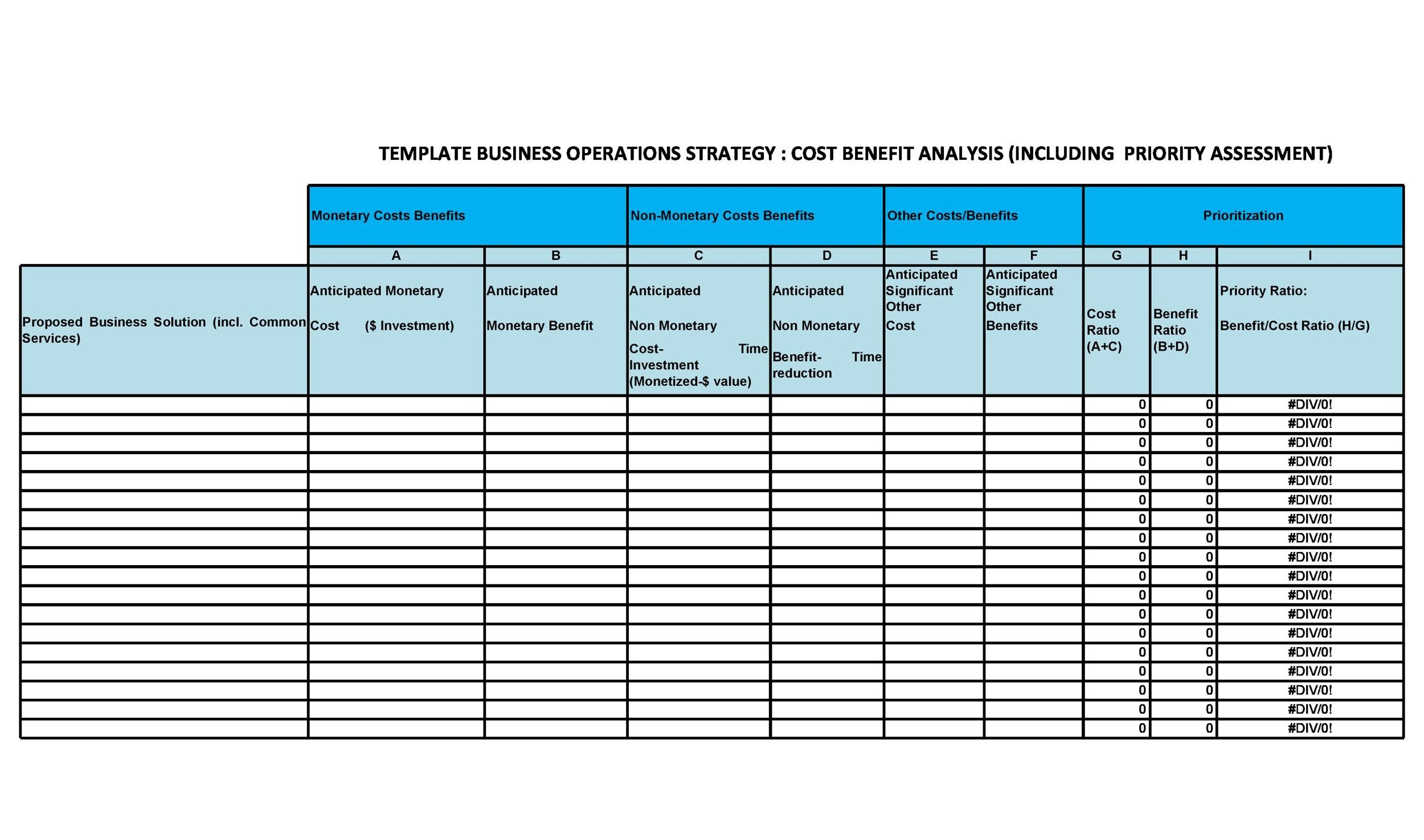 Free Cost Benefit Analysis Template 13