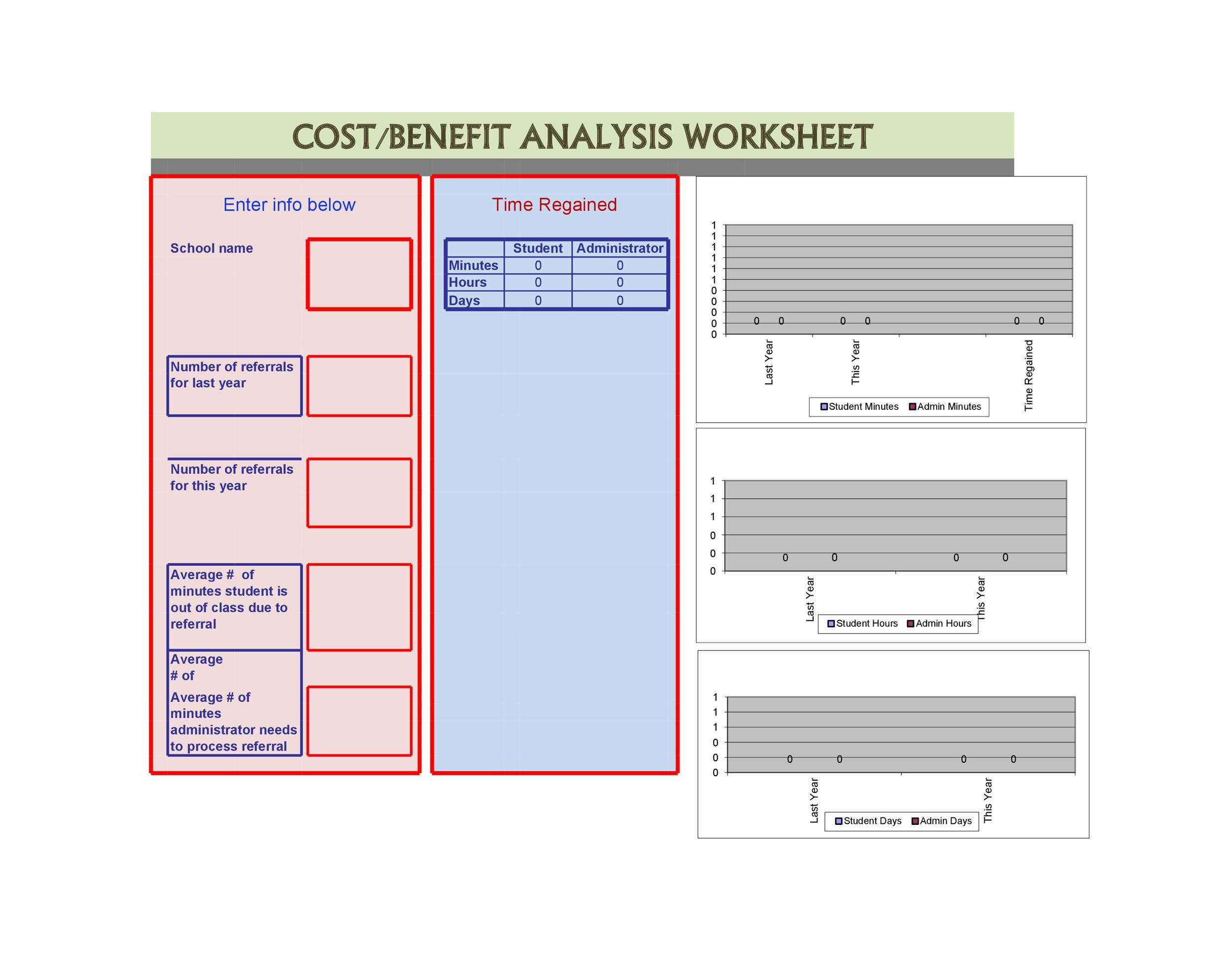 Free Cost Benefit Analysis Template 23