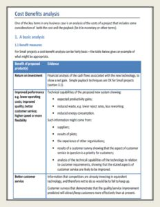 Cost Benefit Analysis Template 29