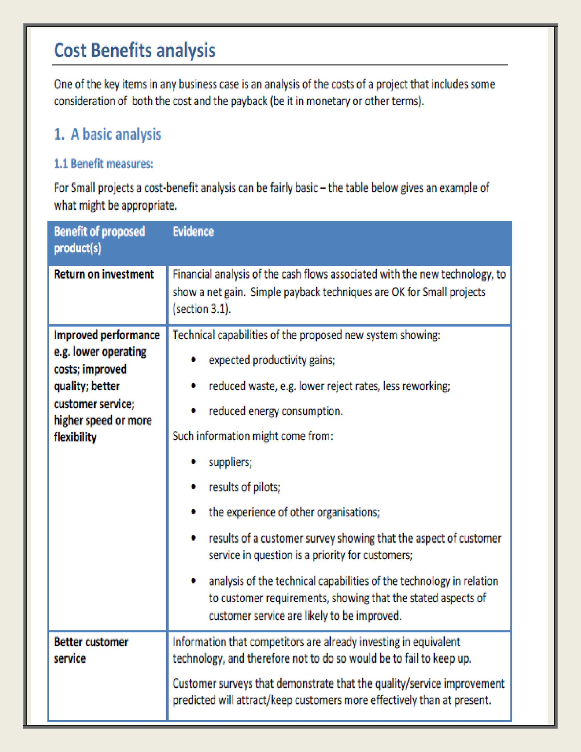 Free Cost Benefit Analysis Template 29