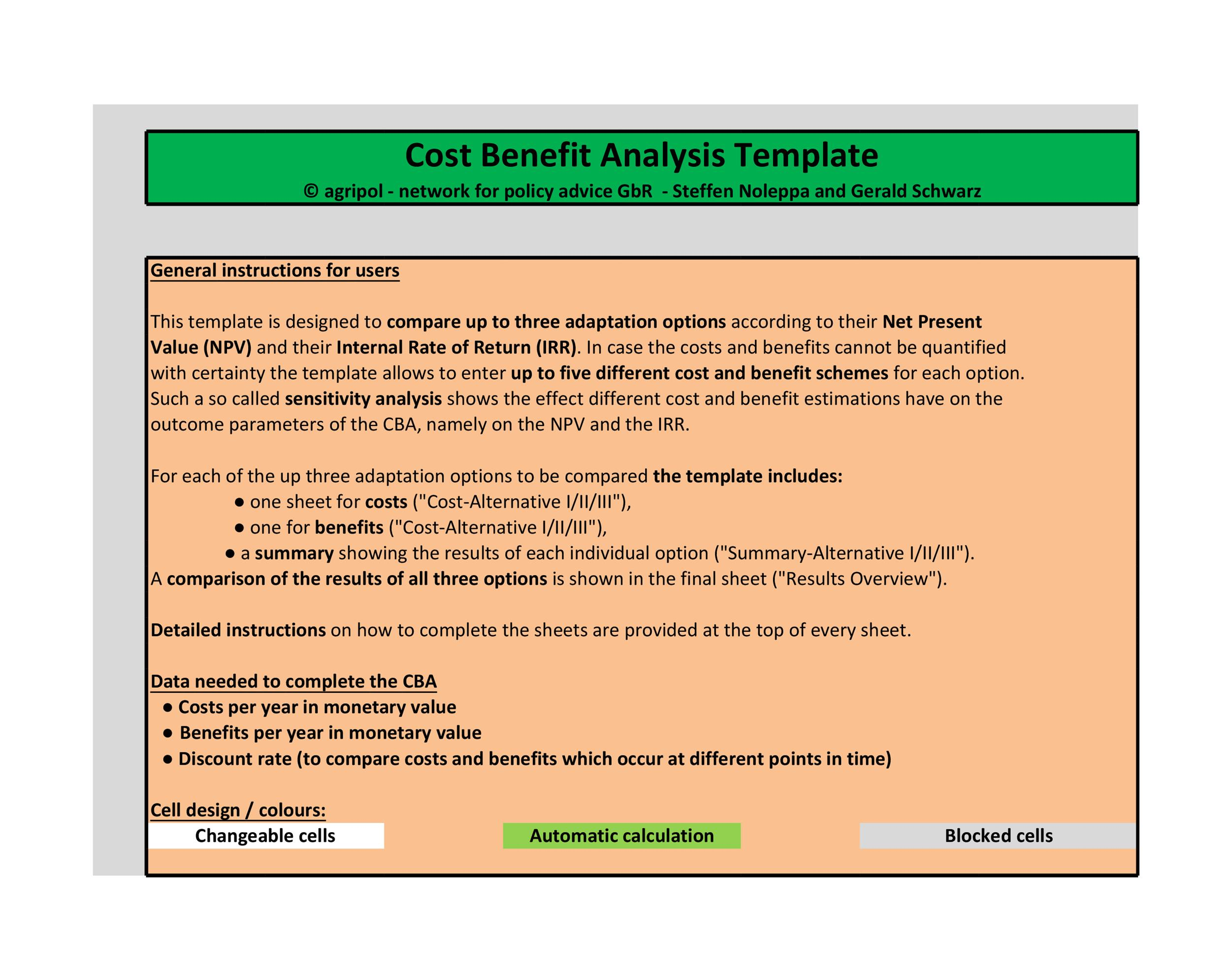 Free Cost Benefit Analysis Template 38