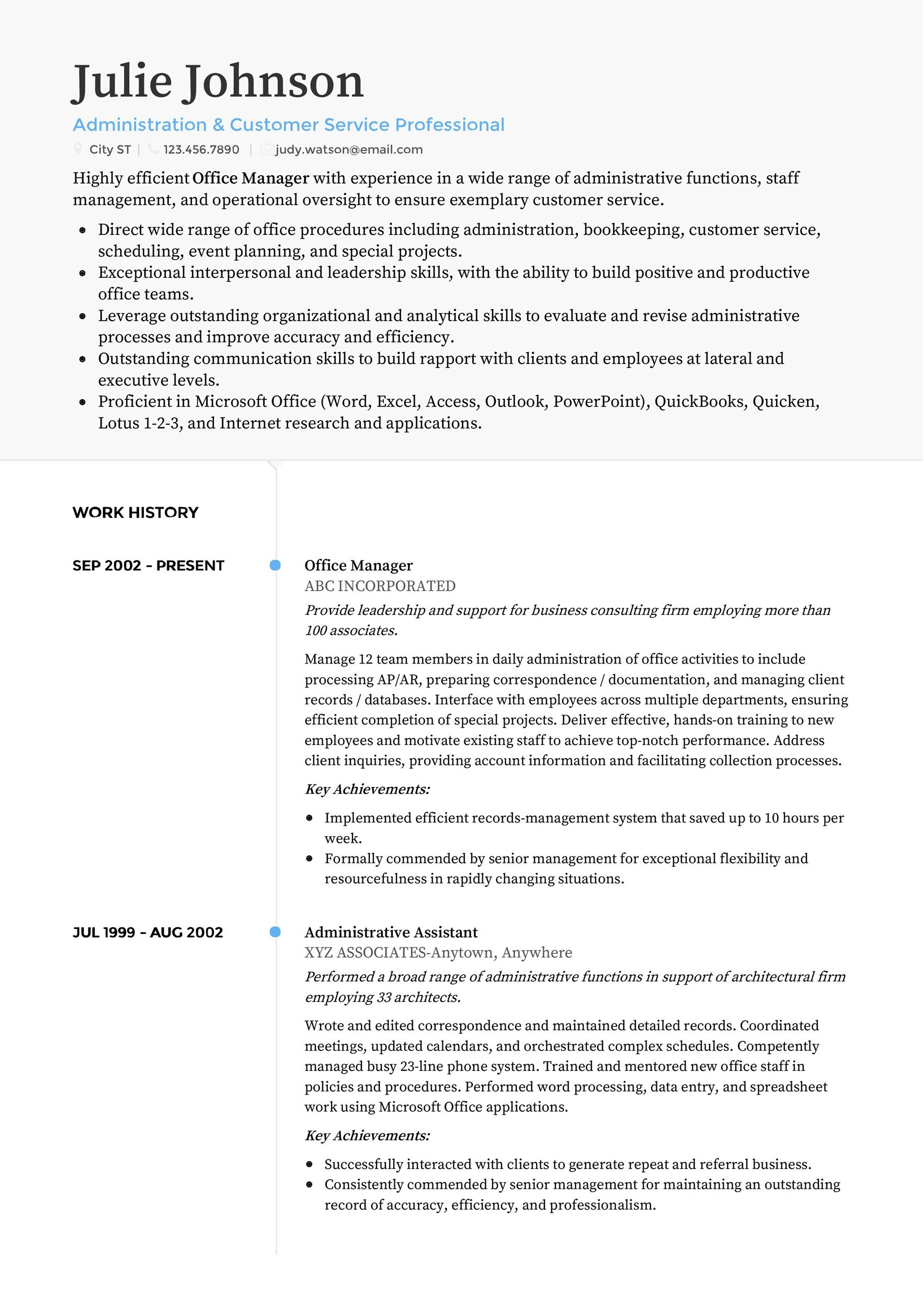 Free Customer Service Resume Template 28