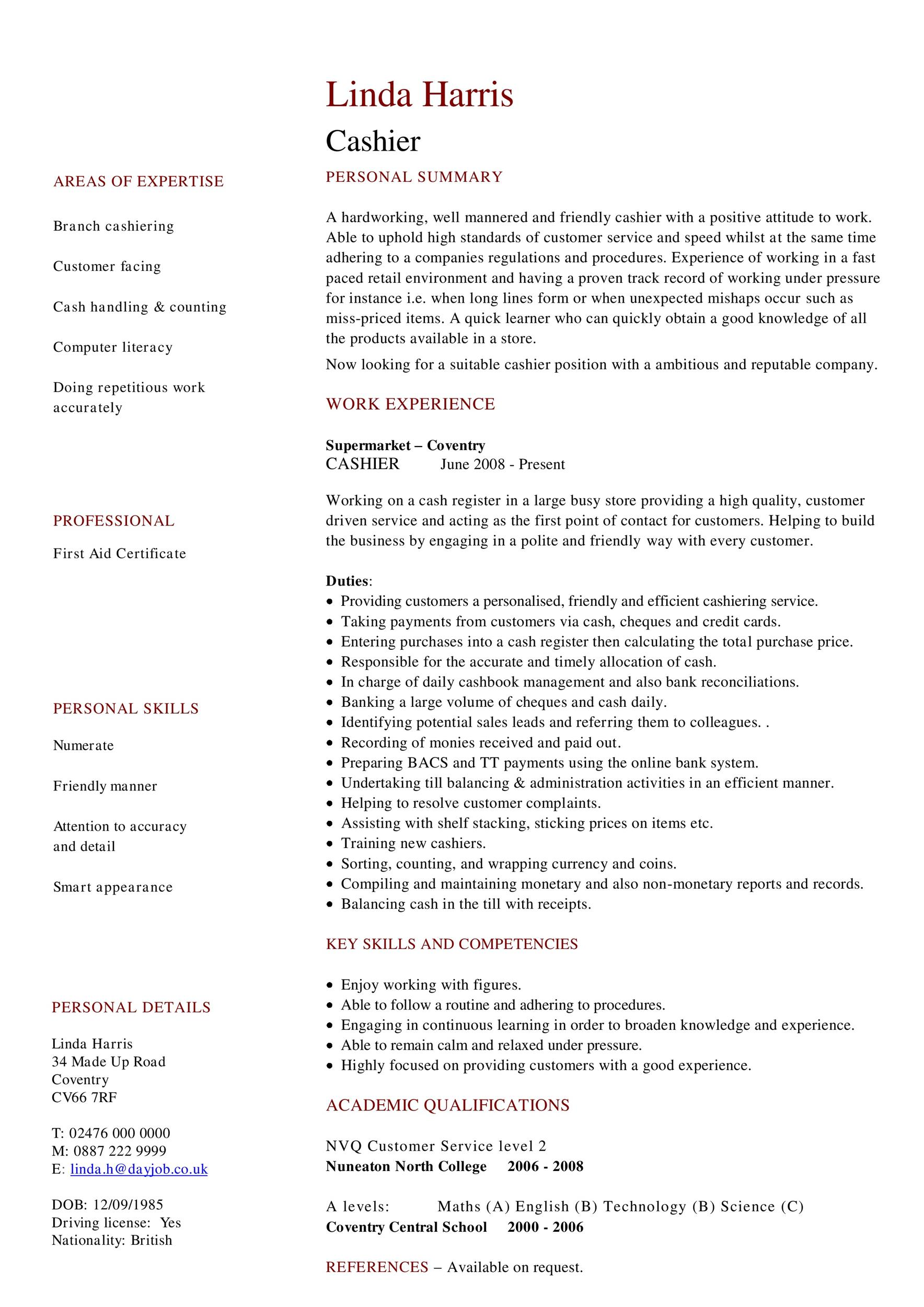 Free Customer Service Resume Template 30